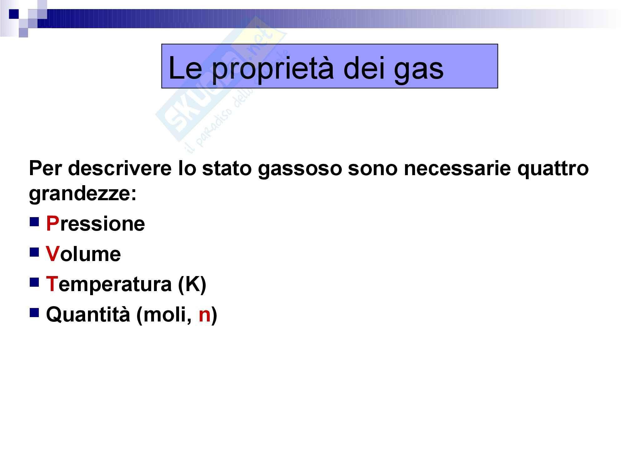 Chimica: che cos'è lo stato gassoso Pag. 2