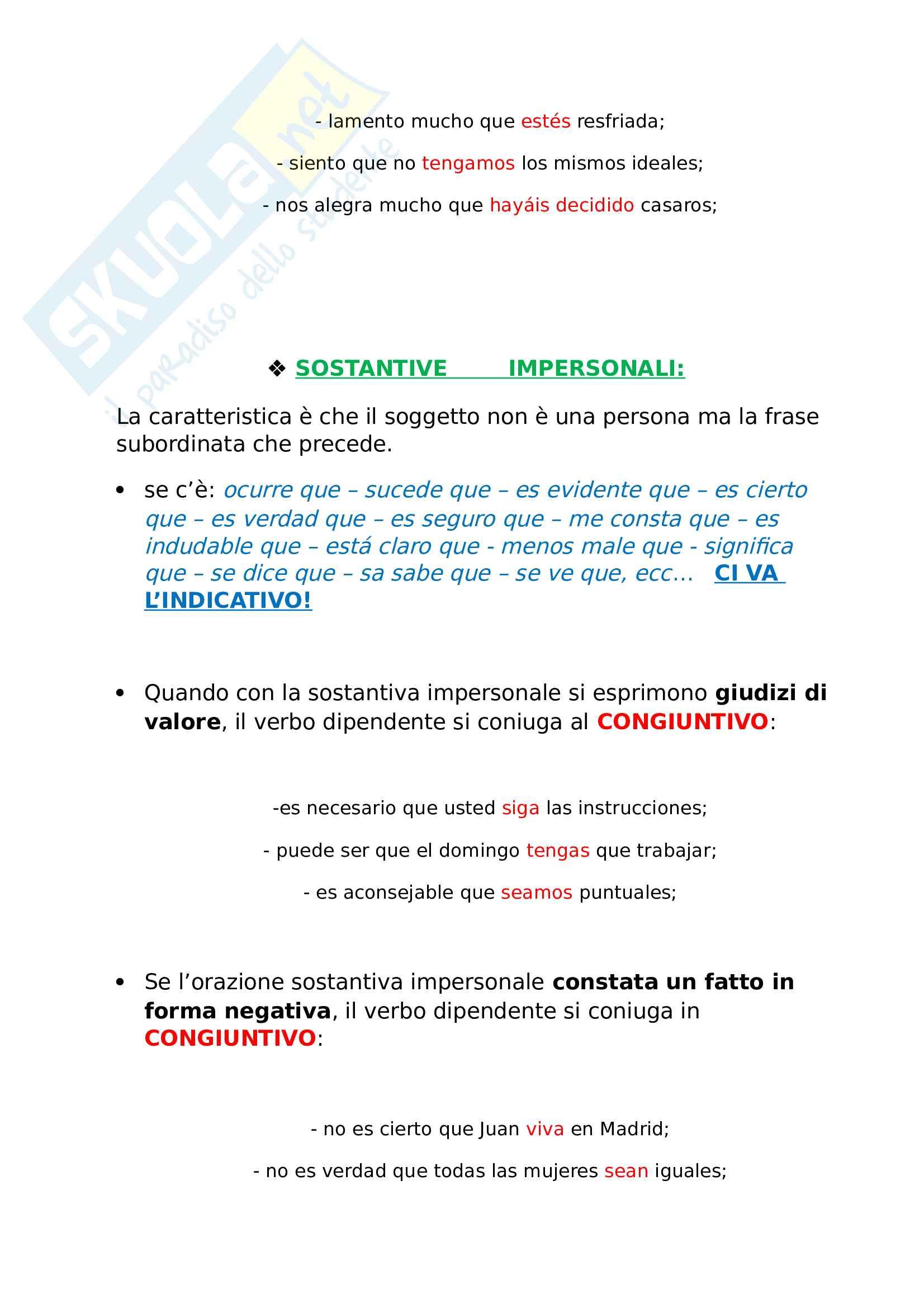 Uso del subjuntivo - Spagnolo Pag. 2