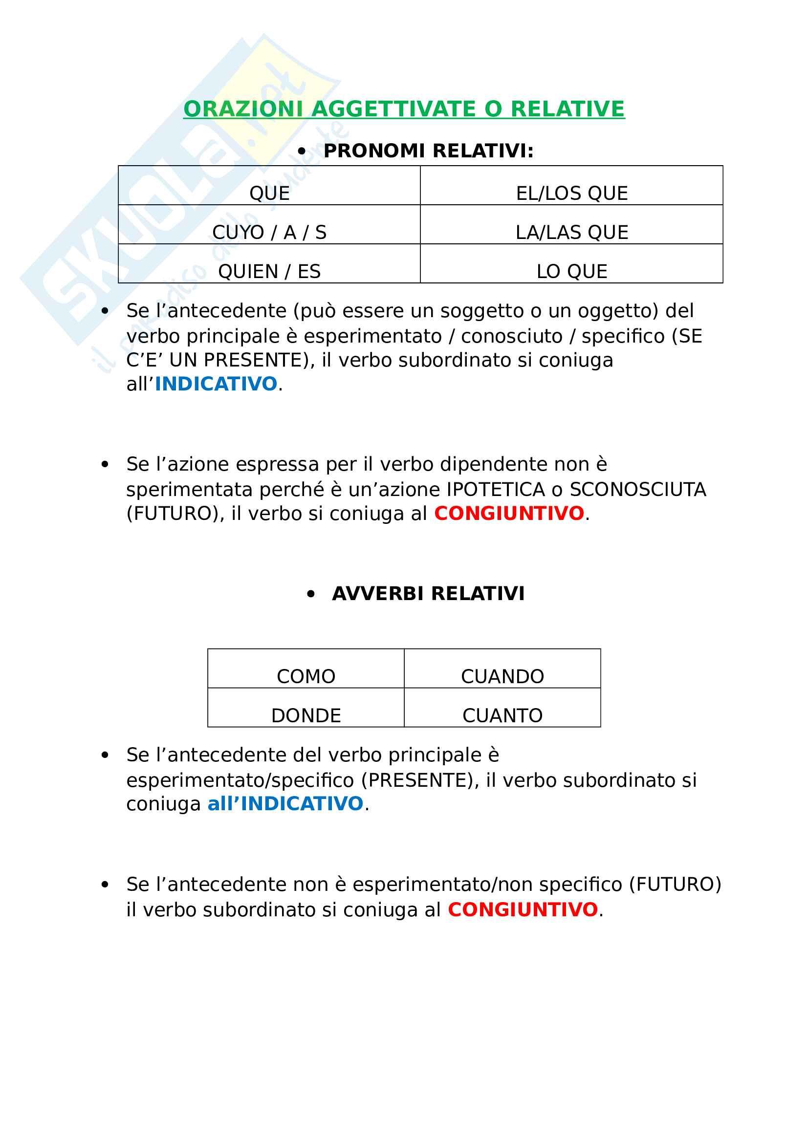 Uso del subjuntivo - Spagnolo Pag. 6