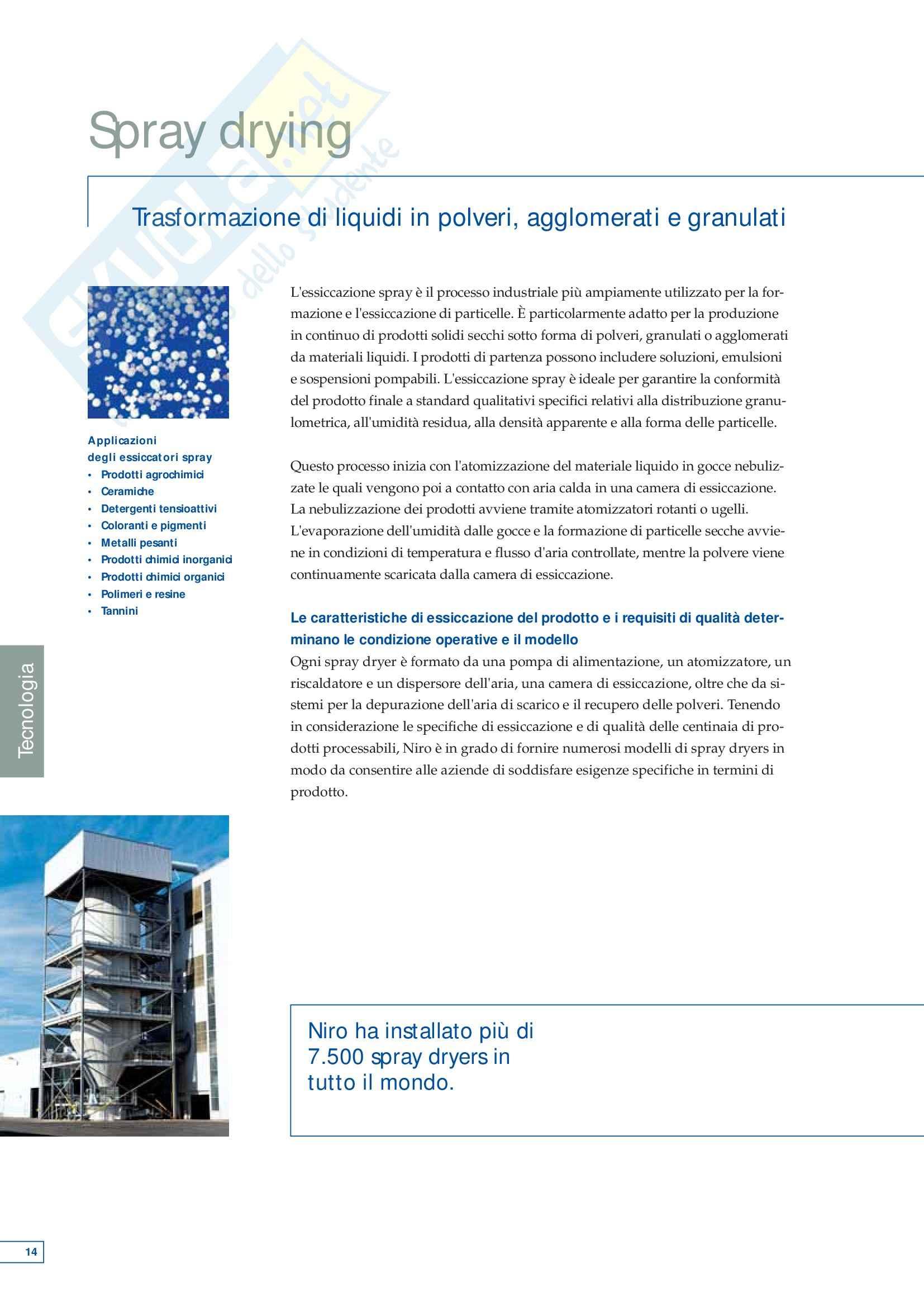 Tecnica farmaceutica - tecnologie di spray drying Pag. 16