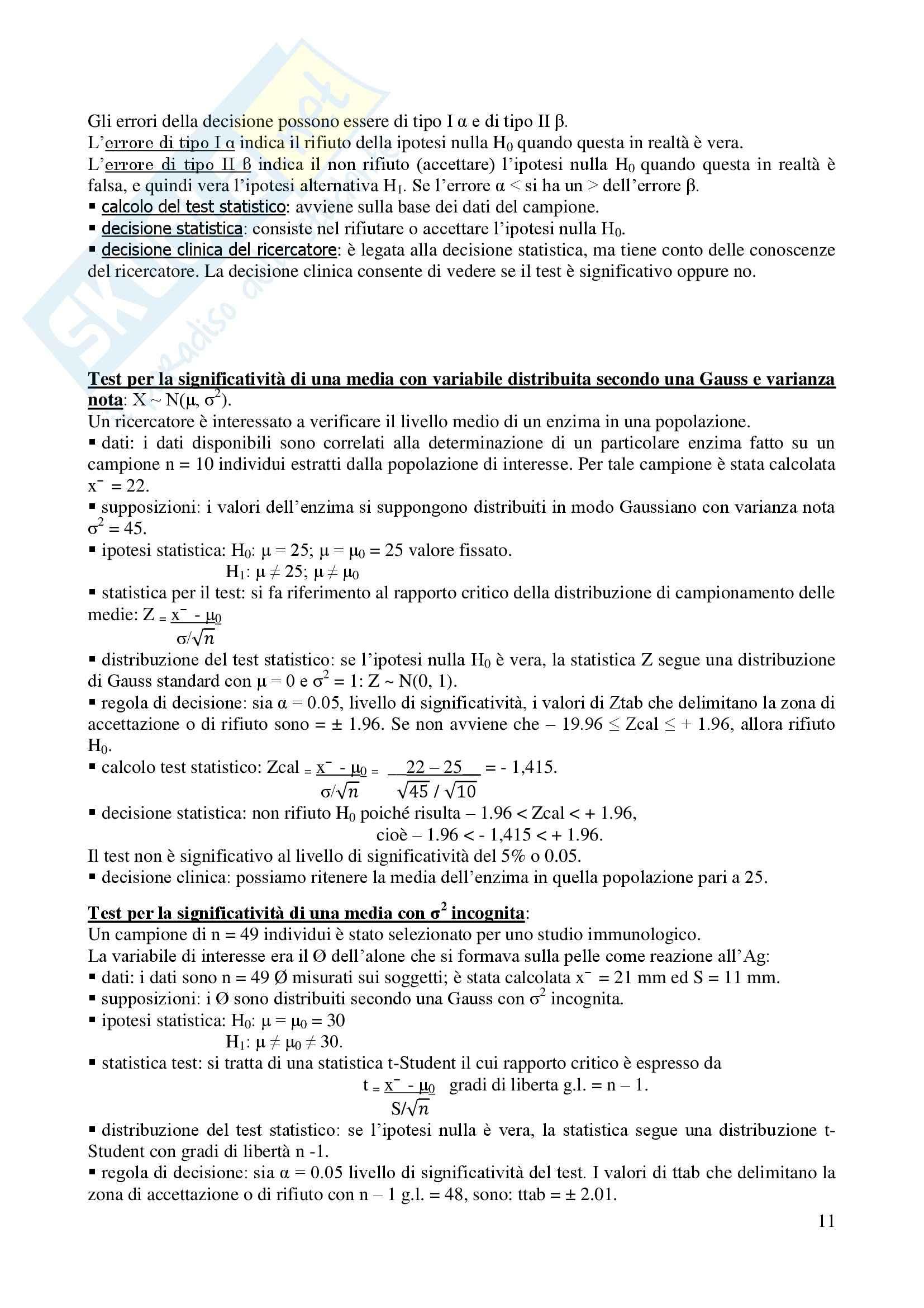 Statistica - Appunti Pag. 11