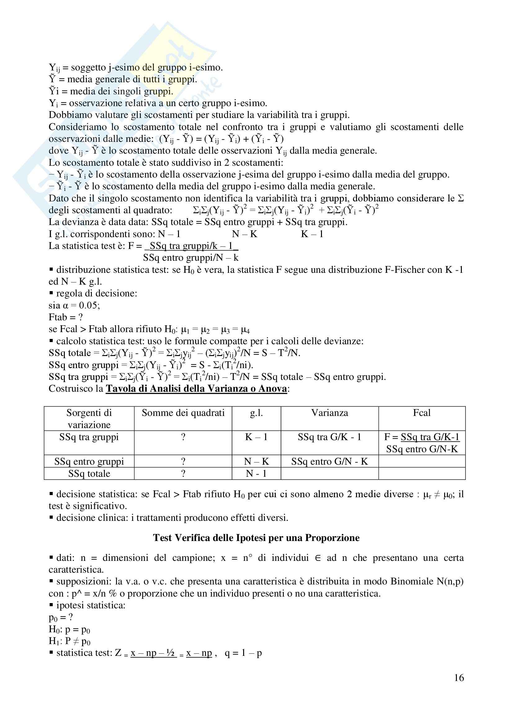 Statistica - Appunti Pag. 16