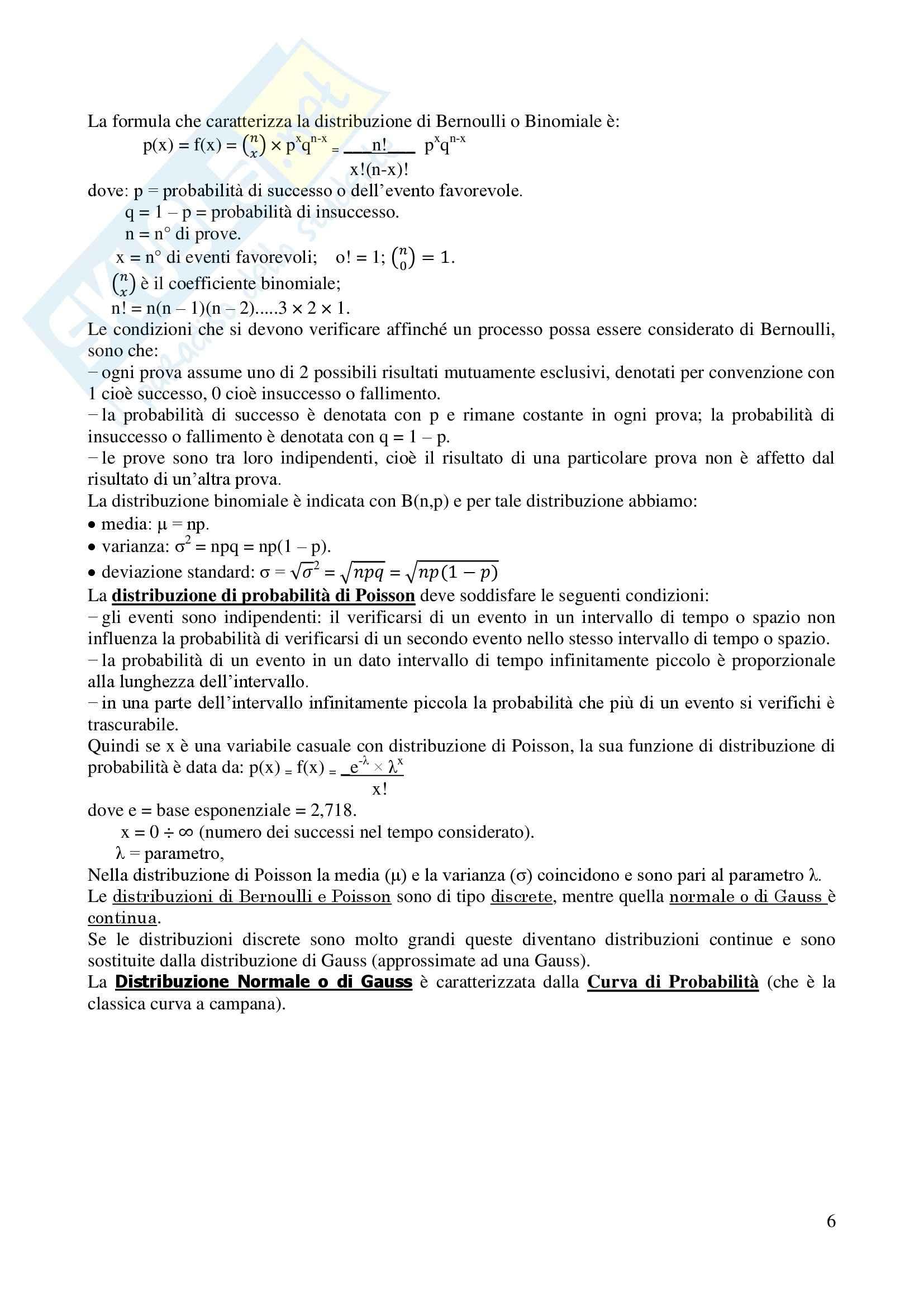 Statistica - Appunti Pag. 6