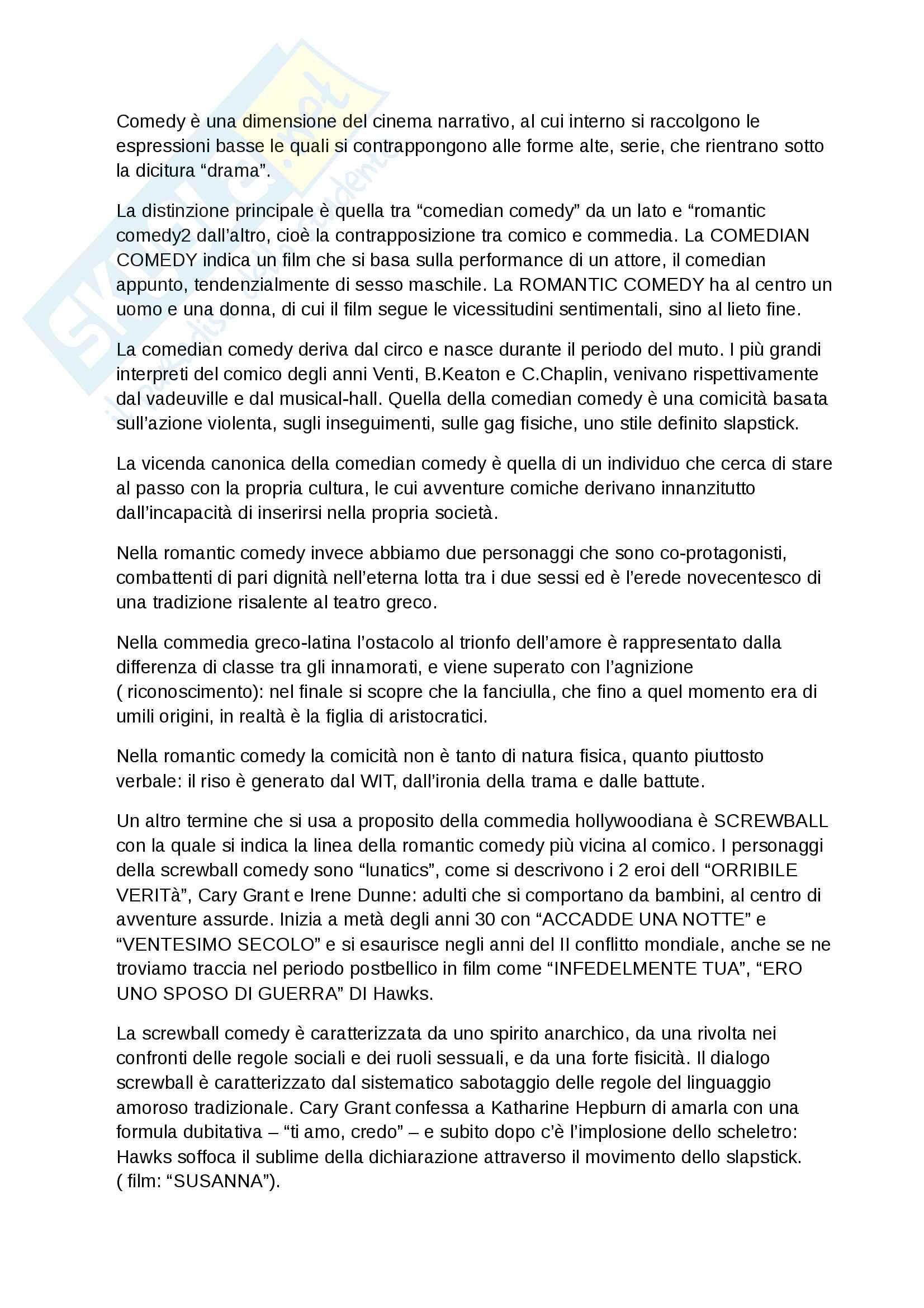 Riassunto esame Storia ed Estetica del cinema, Prof. Farinotti, libro consigliato Il cinema americano classico, Giame Alonge, Giulia Carluccio Pag. 11