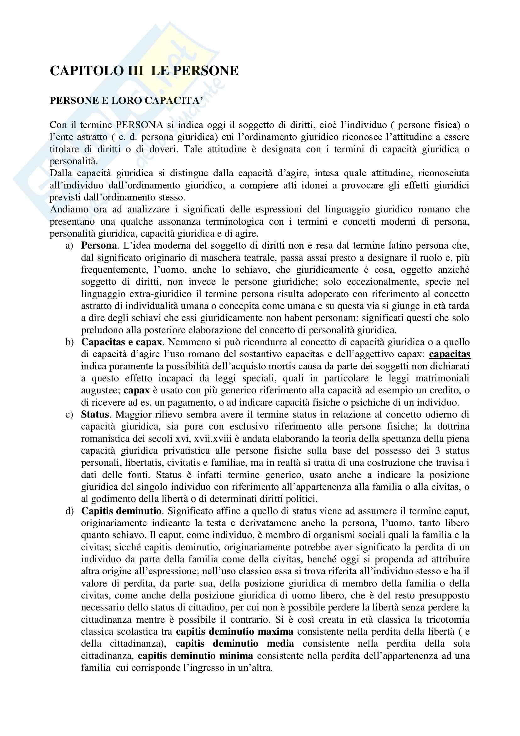 Riassunto esame Diritto romano, prof. Della Massara, libro consigliato Manuale di diritto privato romano, Burdese