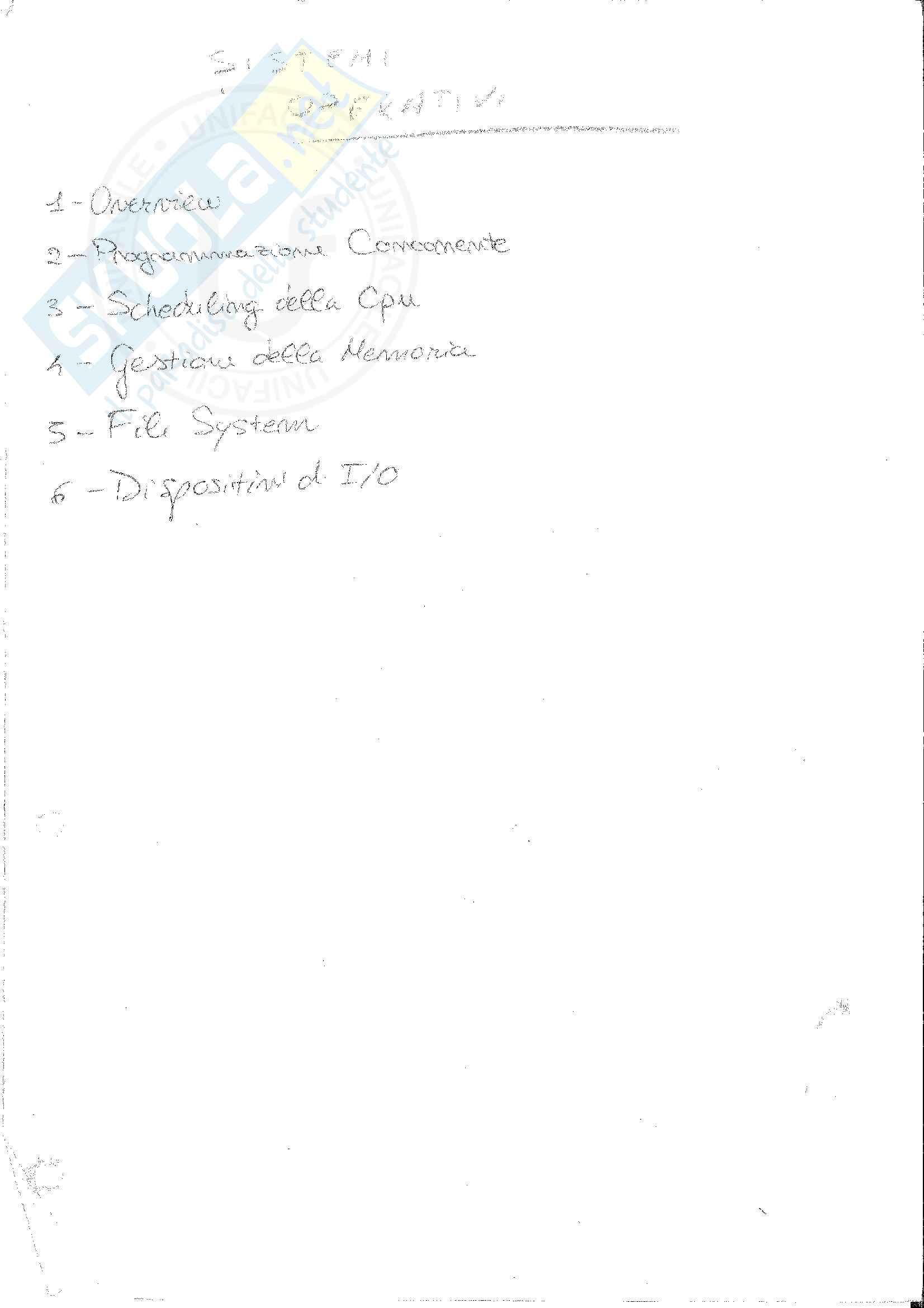 Appunti Completi Sistemi Operativi