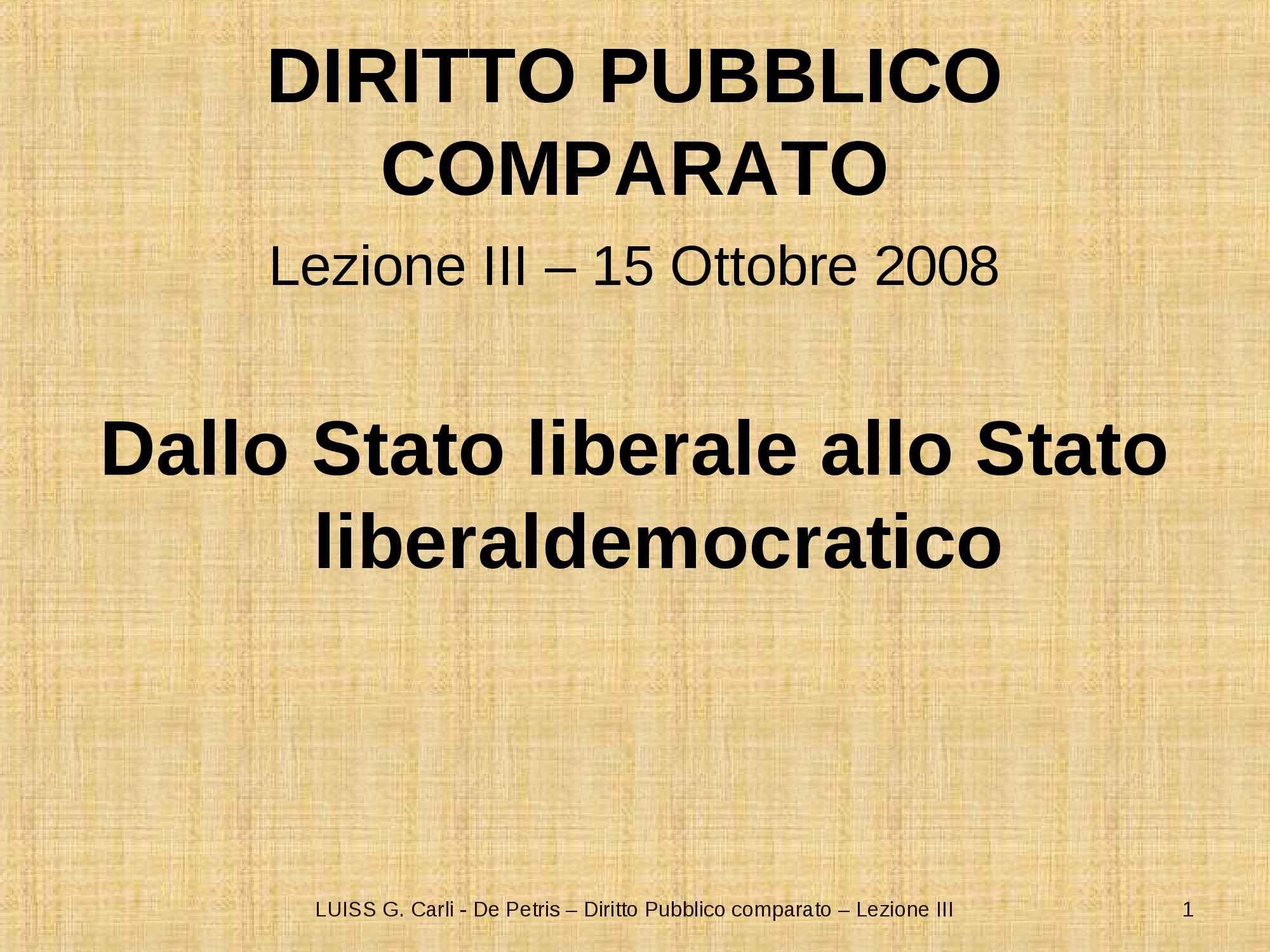 Dallo Stato liberale allo Stato liberal-democratico