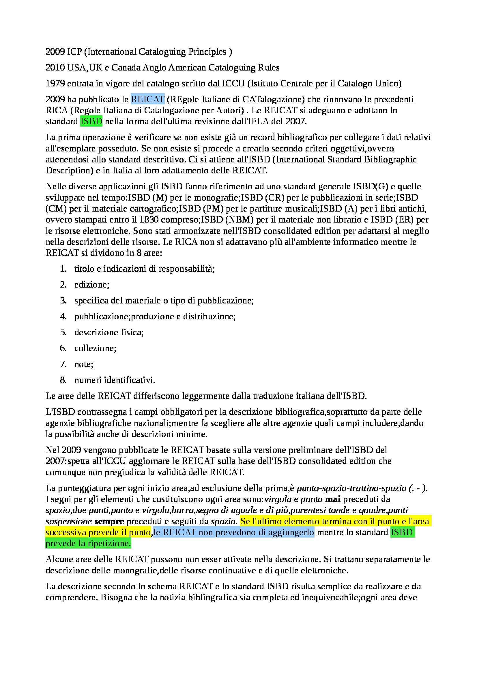 Riassunto esame Biblioteconomia, prof. Montecchi, libro consigliato Manuale di Biblioteconomia Pag. 11