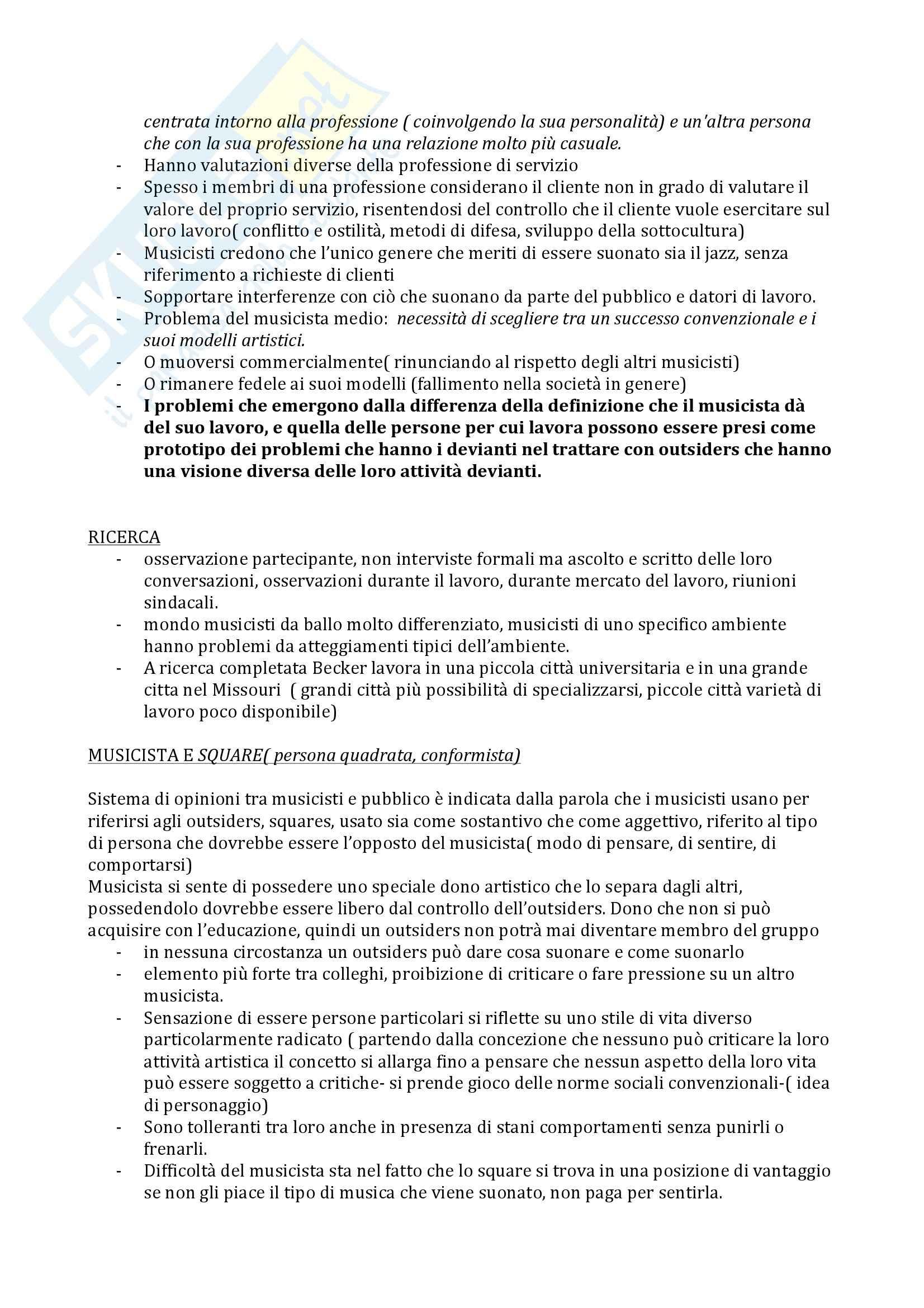 Sociologia della devianza - Becker Pag. 11