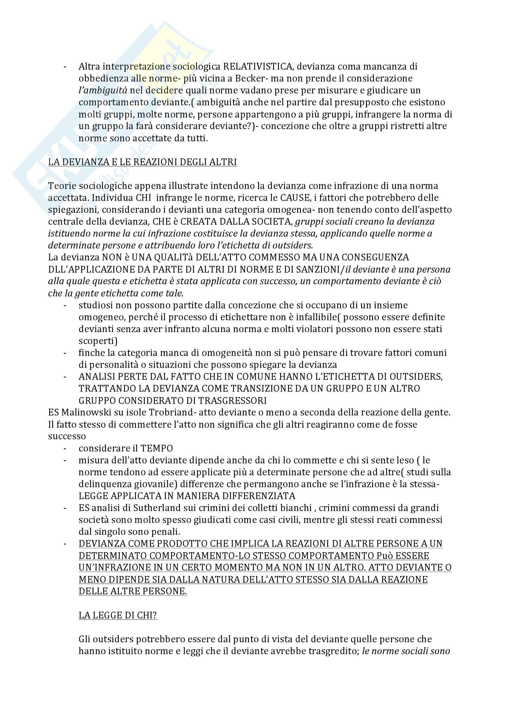 Sociologia della devianza - Becker Pag. 2