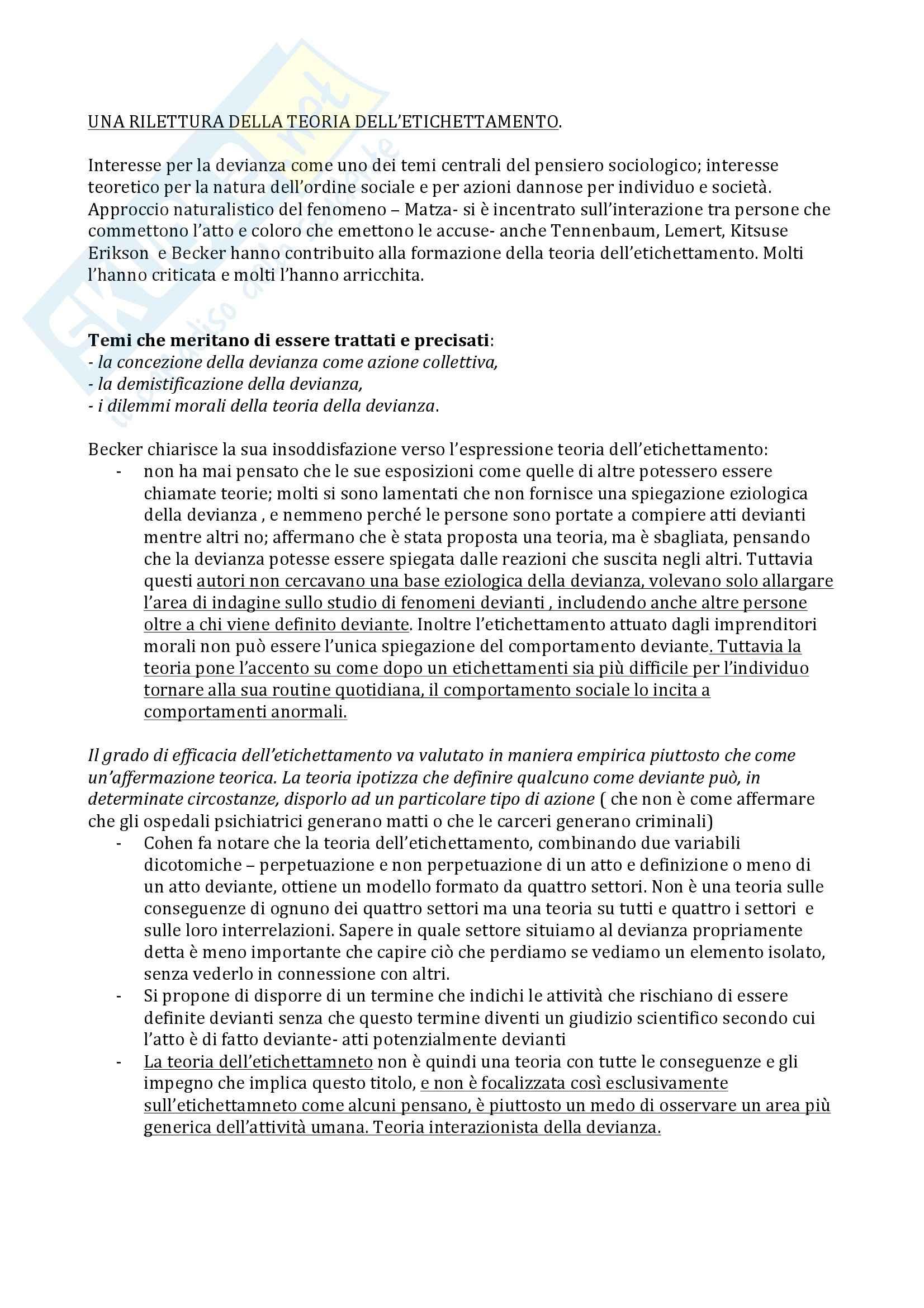 Sociologia della devianza - Becker Pag. 21
