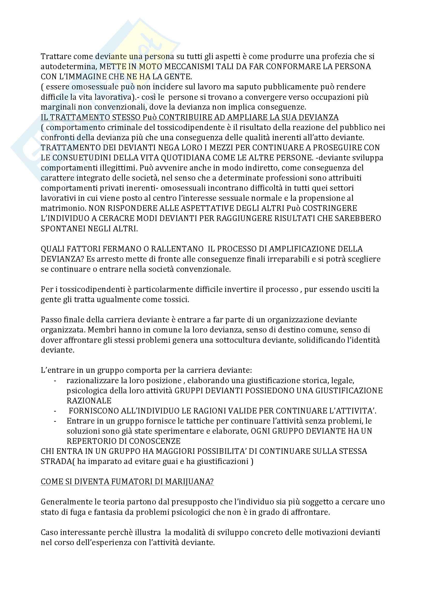 Sociologia della devianza - Becker Pag. 6