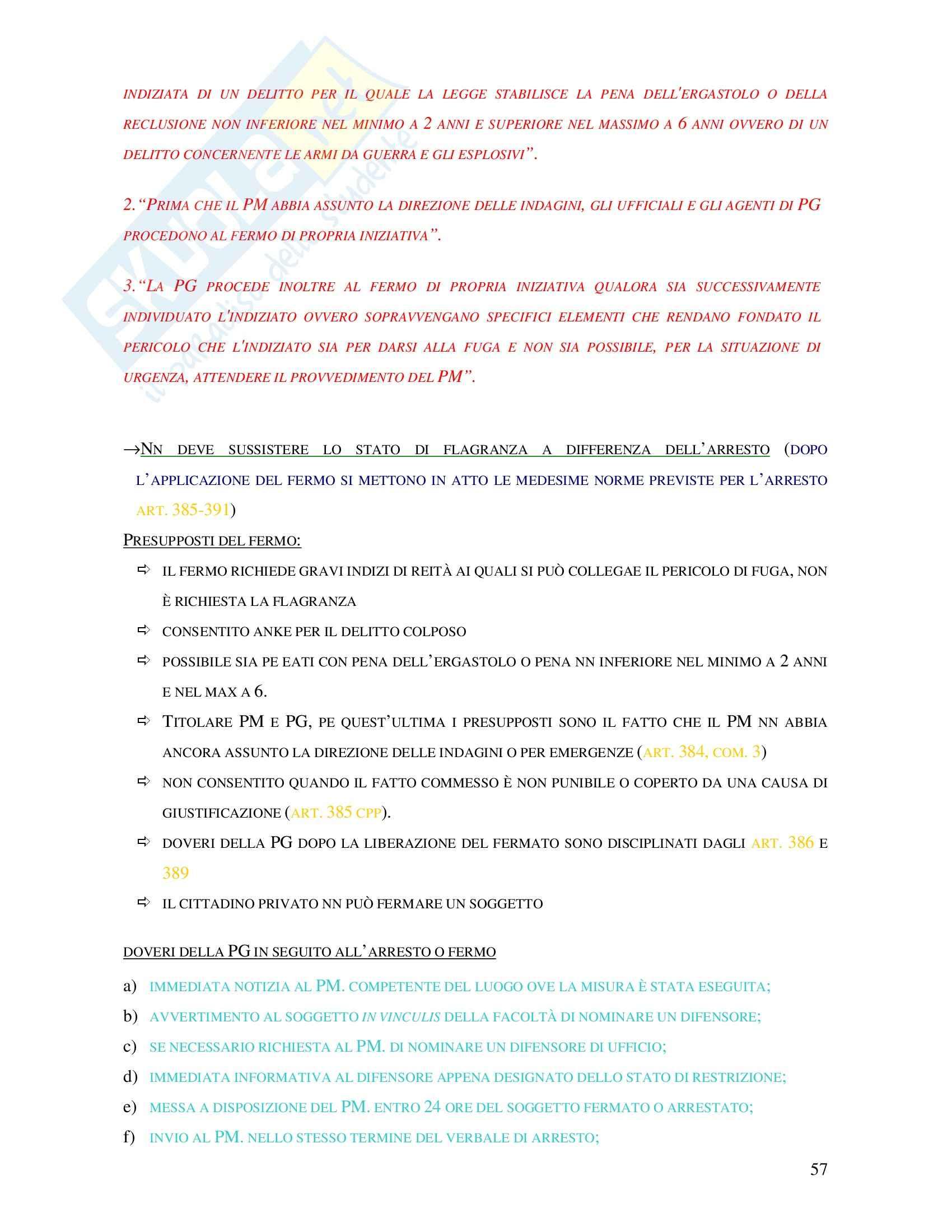 Procedura penale - le misure precautelari Pag. 2