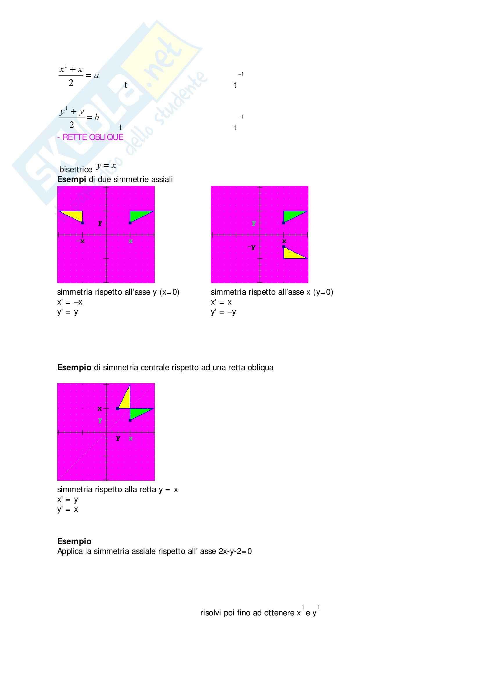 Matematica - trasformazioni matematiche Pag. 6
