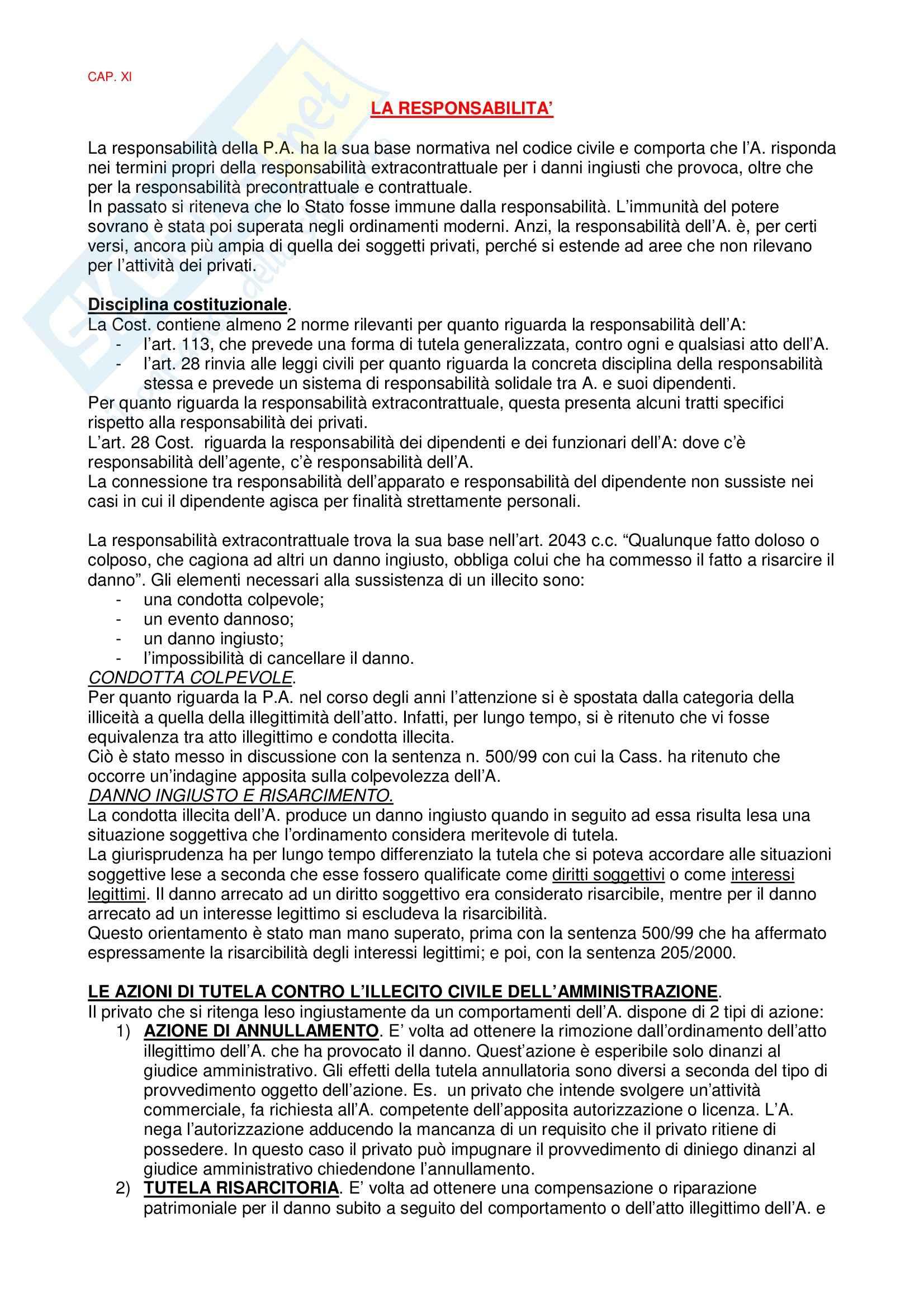 Diritto amministrativo - la responsabilità amministrativa