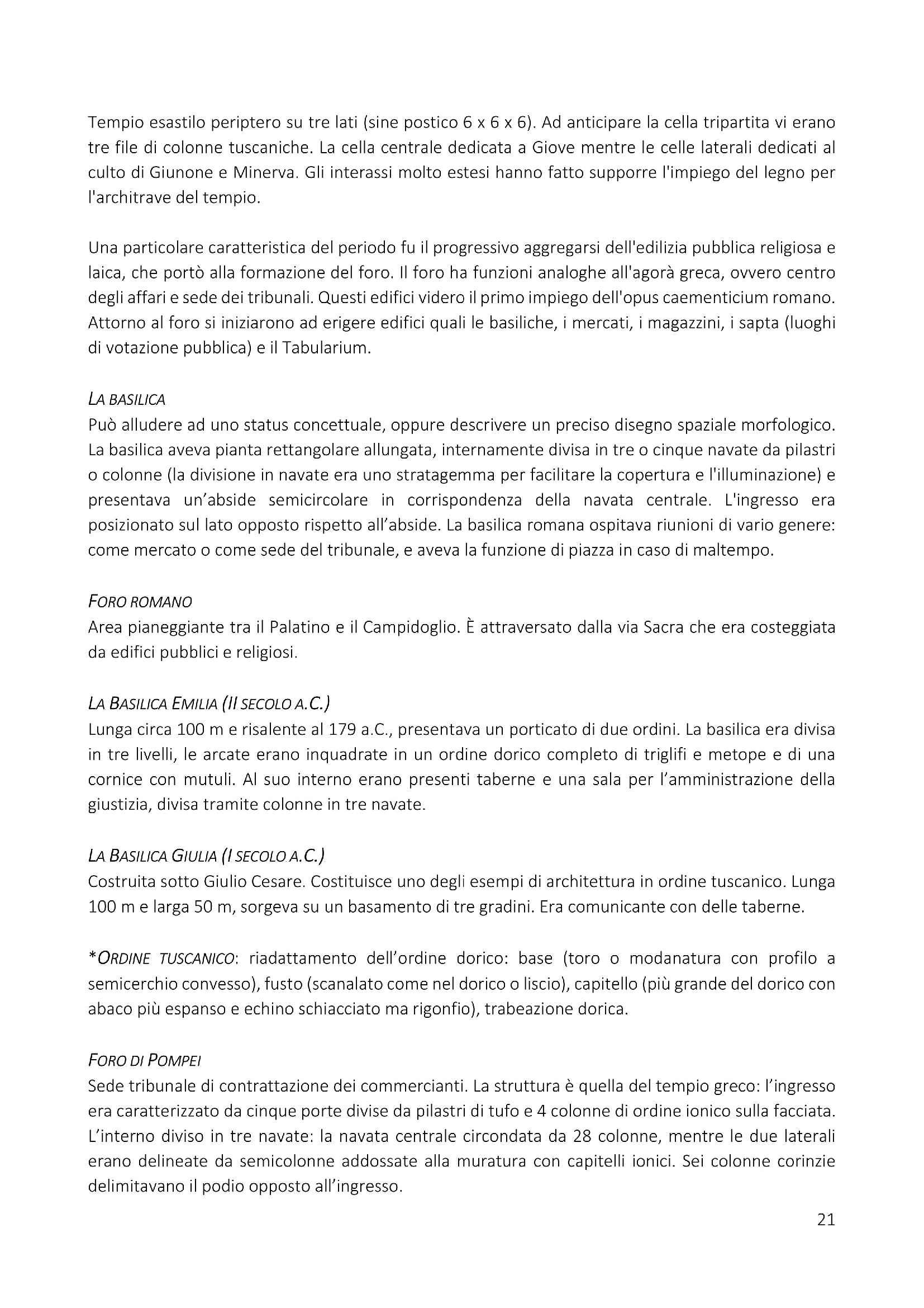 Riassunto del programma di storia dell'architettura ed estetica del prof. Dimitri Ticconi Pag. 21