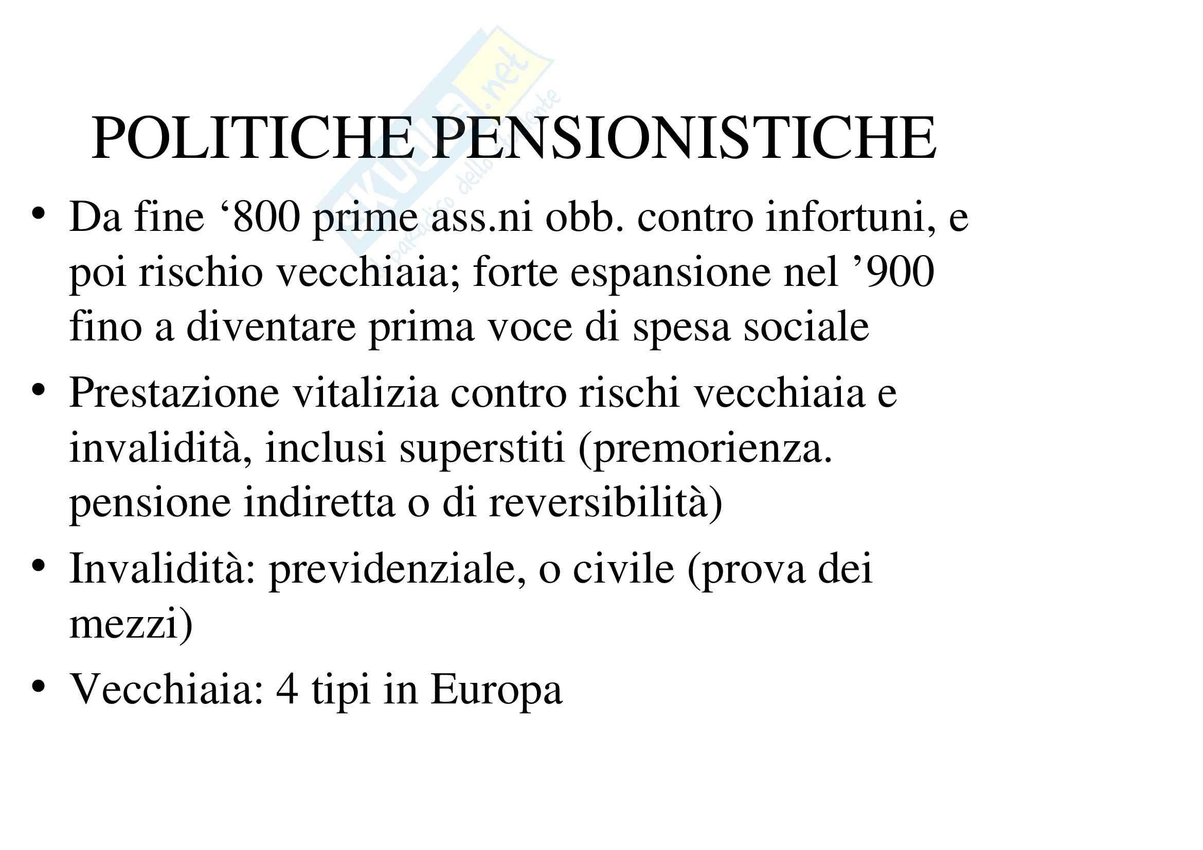 Riassunto esame Analisi delle Politiche Pubbliche, prof. Lewanski, libro consigliato Politiche Sociali, Ferrera - cap. 2