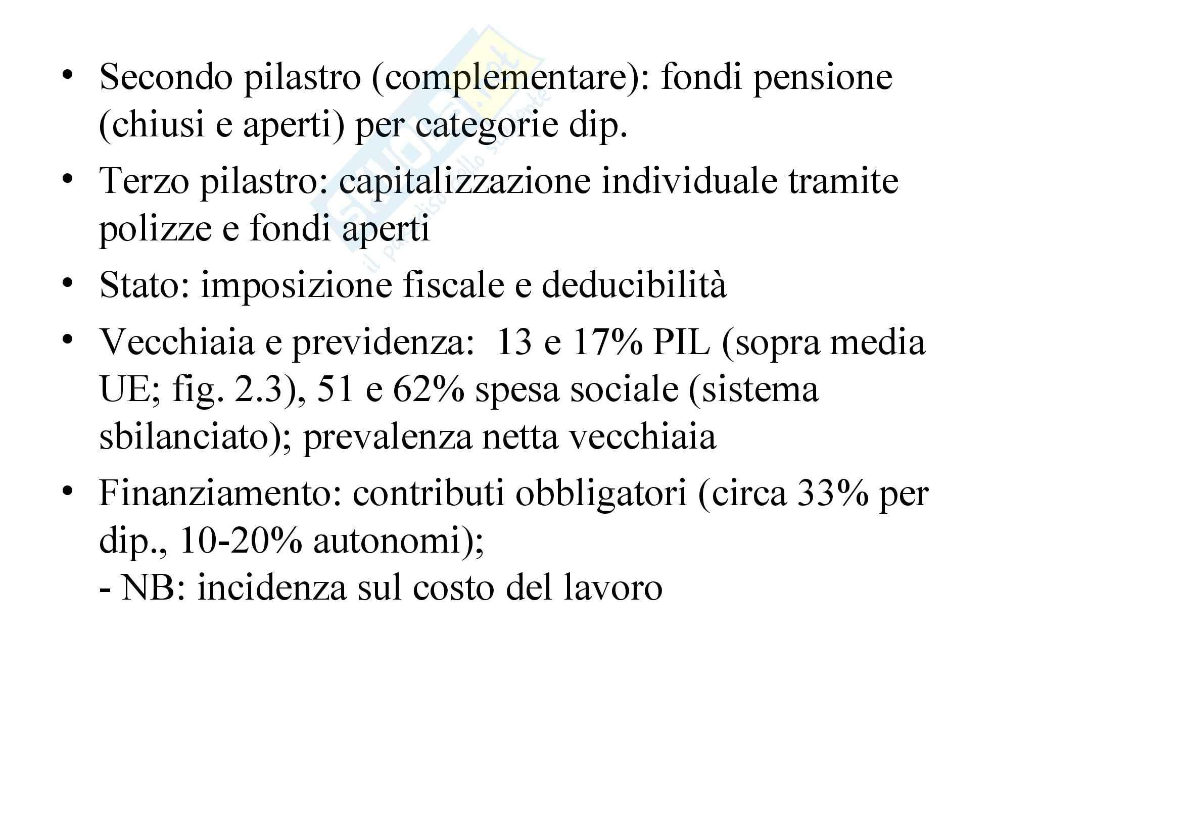 Riassunto esame Analisi delle Politiche Pubbliche, prof. Lewanski, libro consigliato Politiche Sociali, Ferrera - cap. 2 Pag. 6