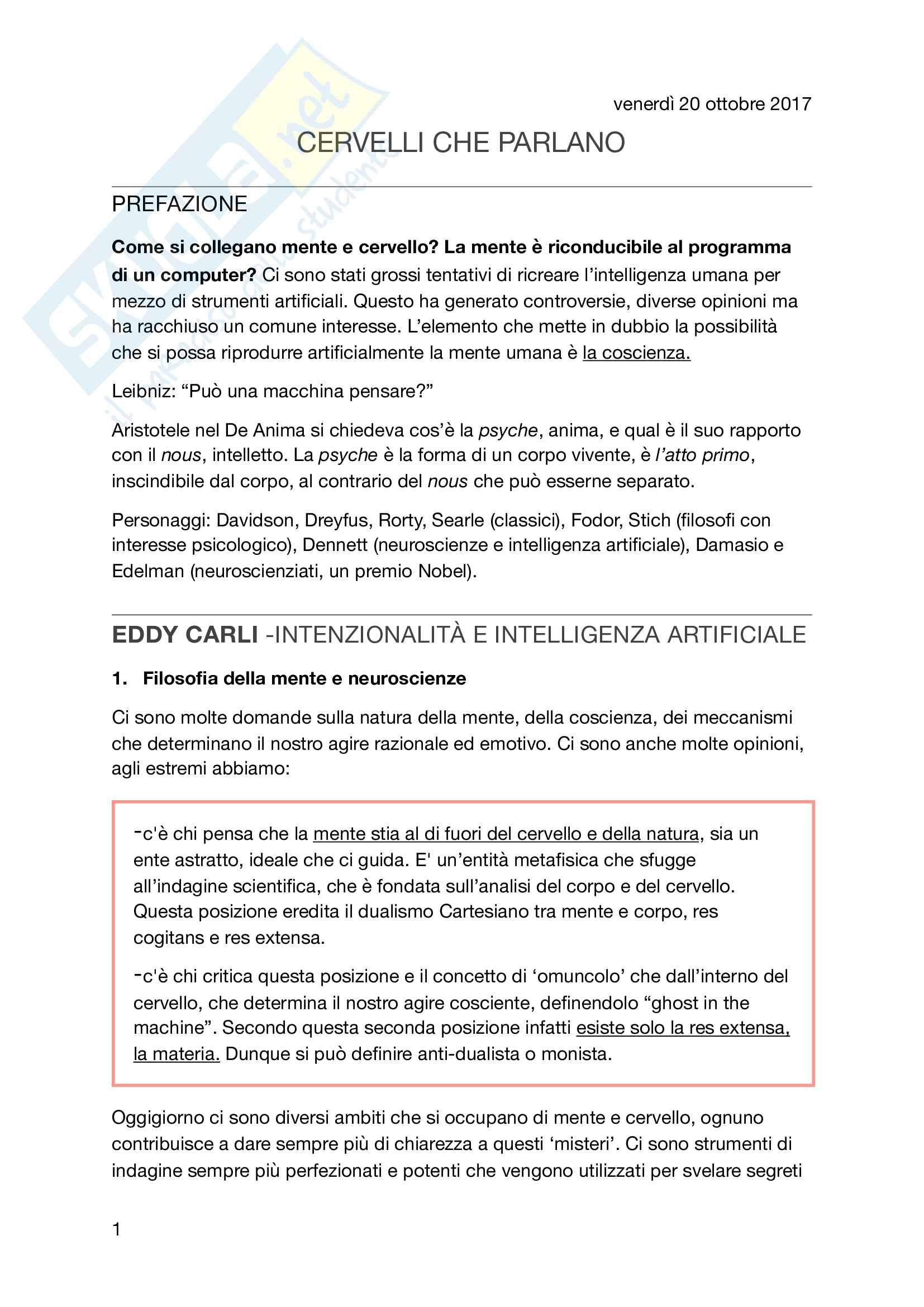 Spiegazione chiara e completa dell'opinione di Carli sull'IA