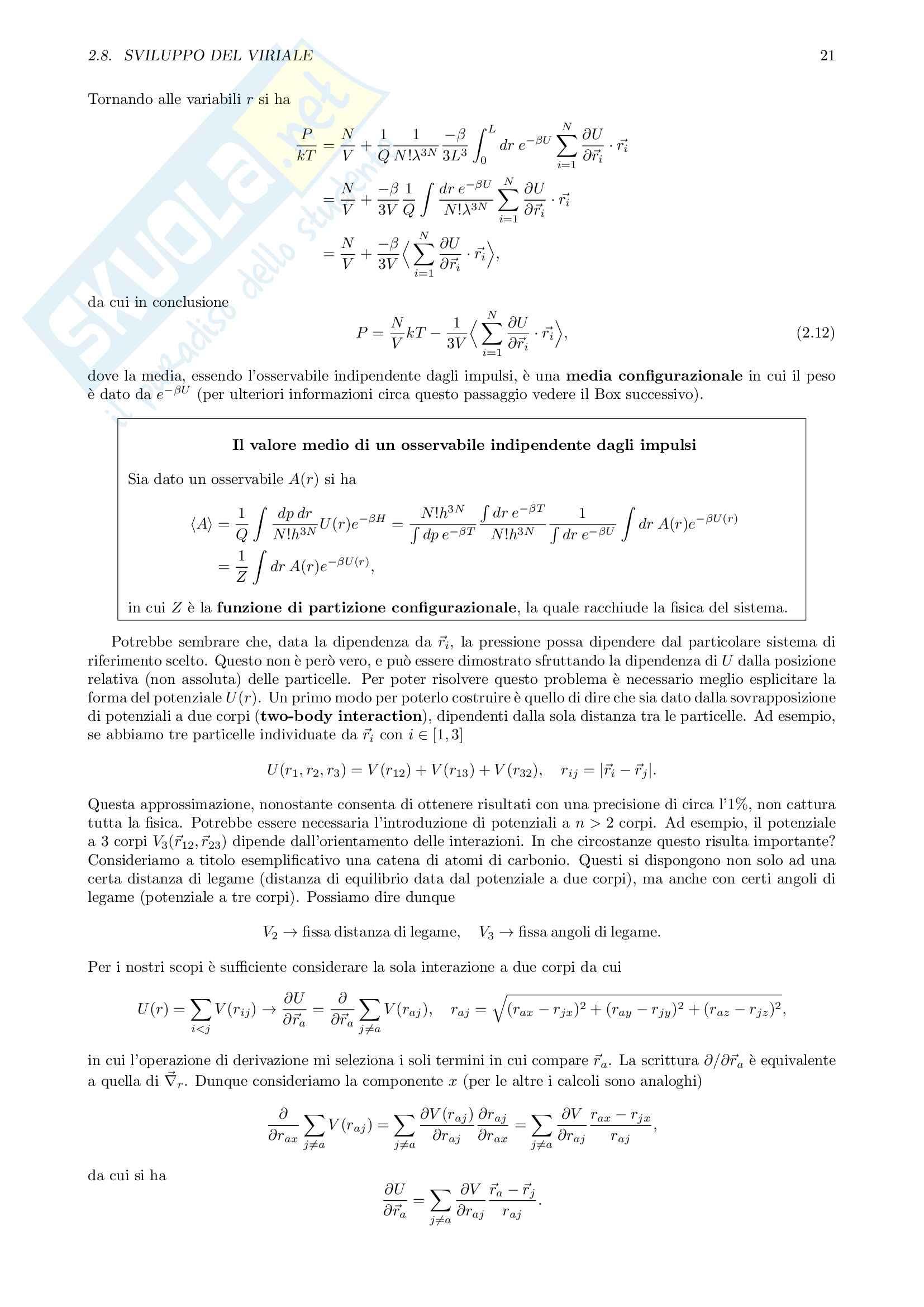 Computational Statistical Mechanics Pag. 21