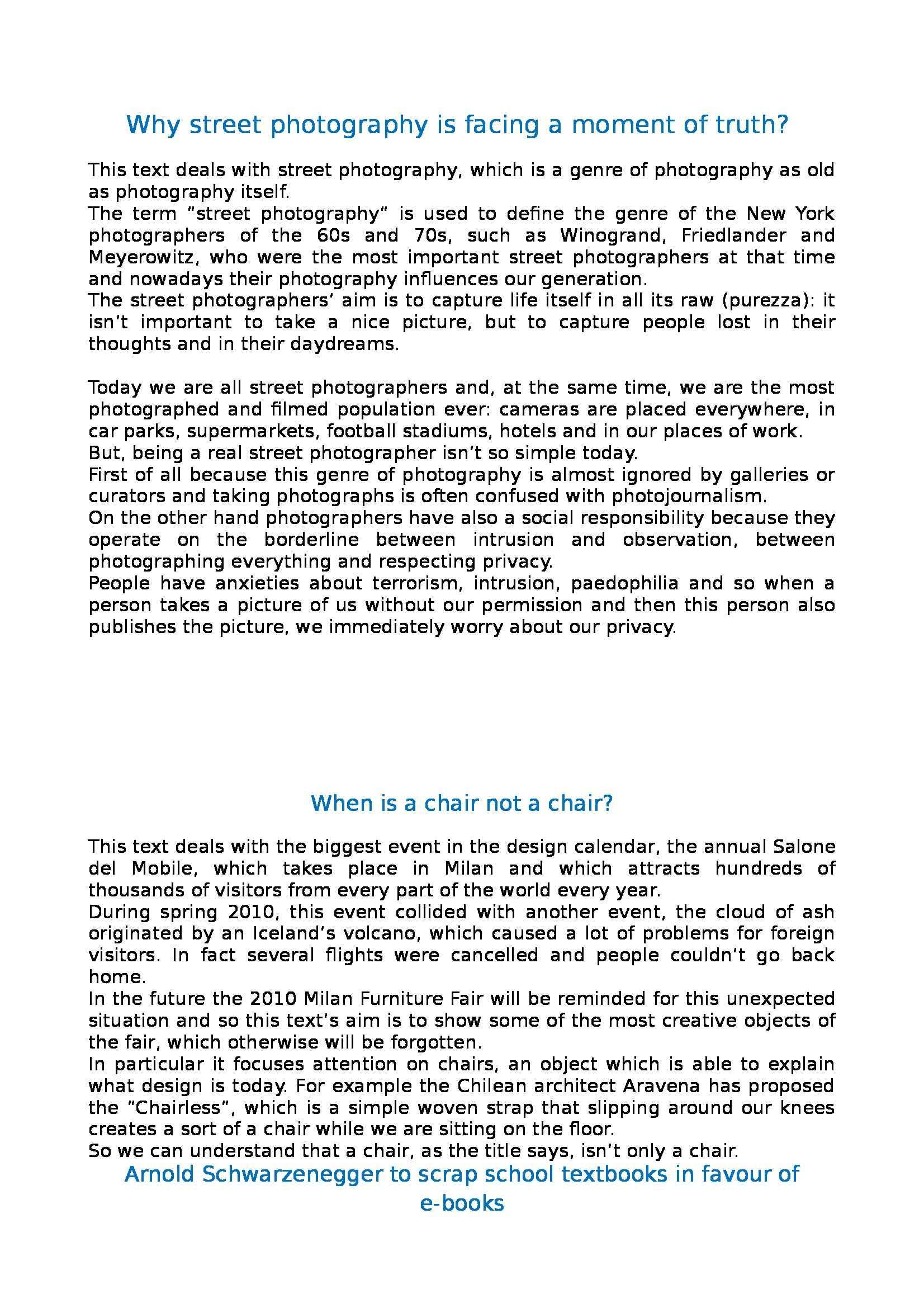 Riassunto esame Lingua Inglese, prof. Reggiani, libro consigliato Food for Thought, Blanc, Murchison, Law