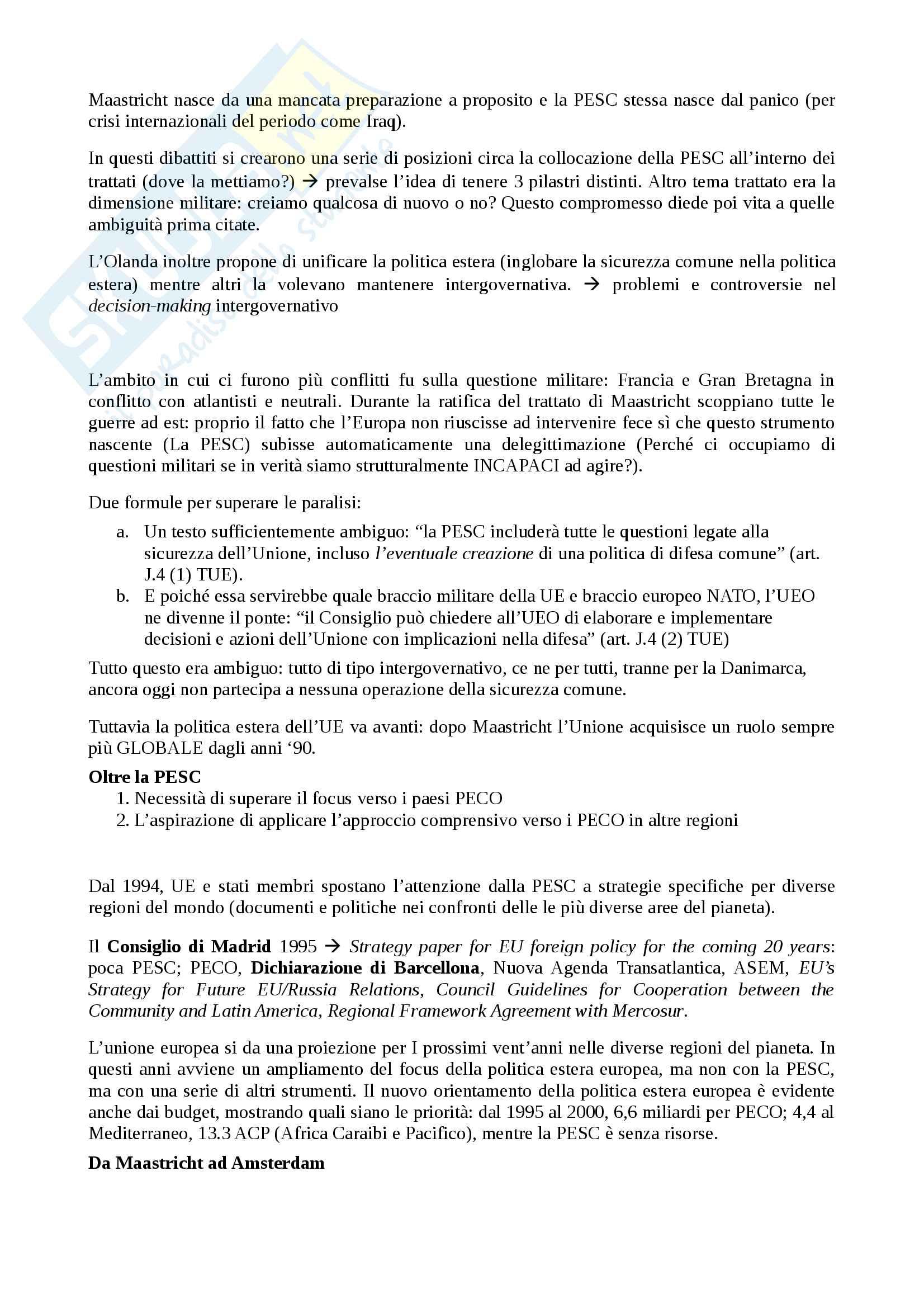 Appunti Il ruolo Internazionale dell'Unione Europea Pag. 26