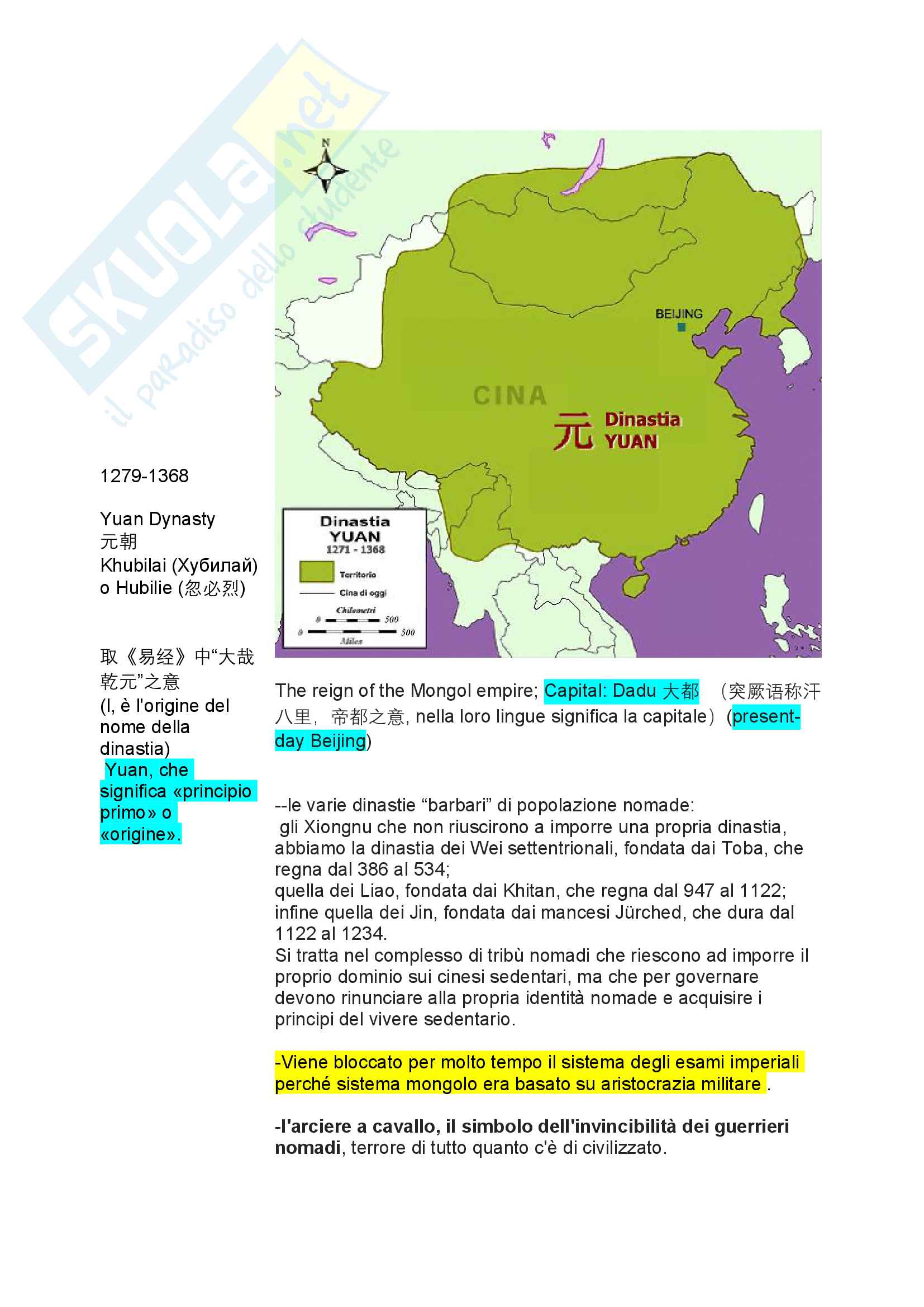 Storia cinese 1 ca foscari Pag. 31