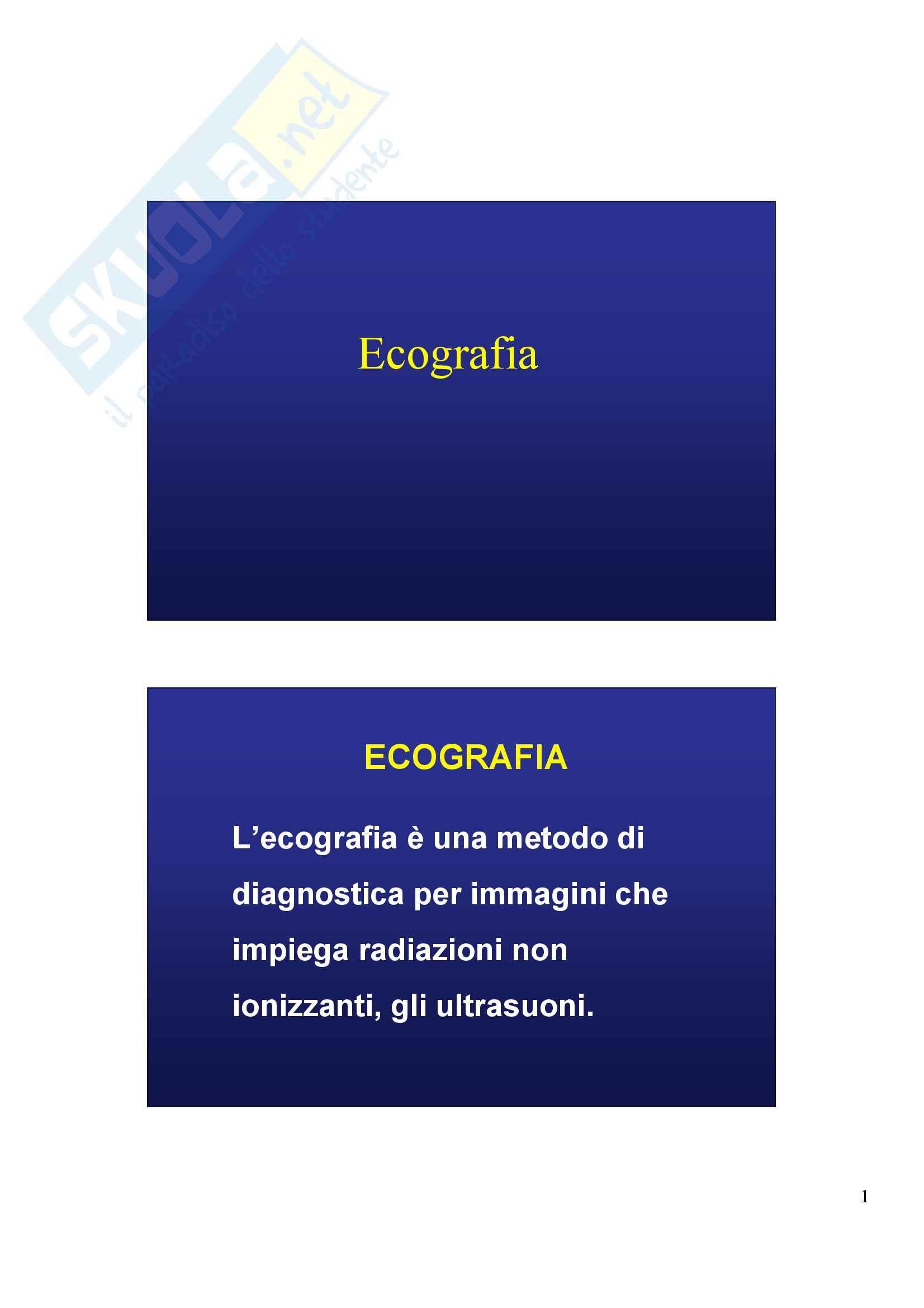 Diagnostica per immagini - Ecografia