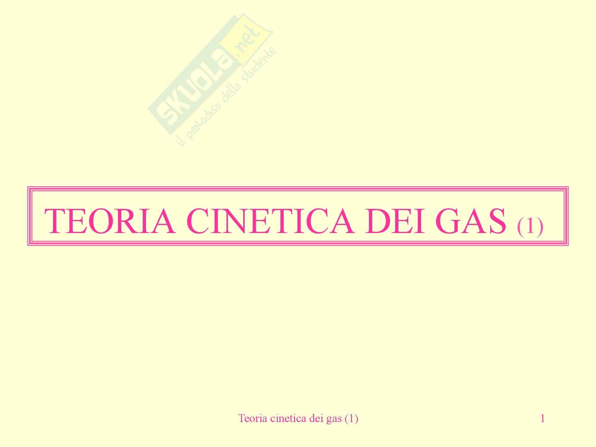 Fisica medica - teoria cinetica dei gas