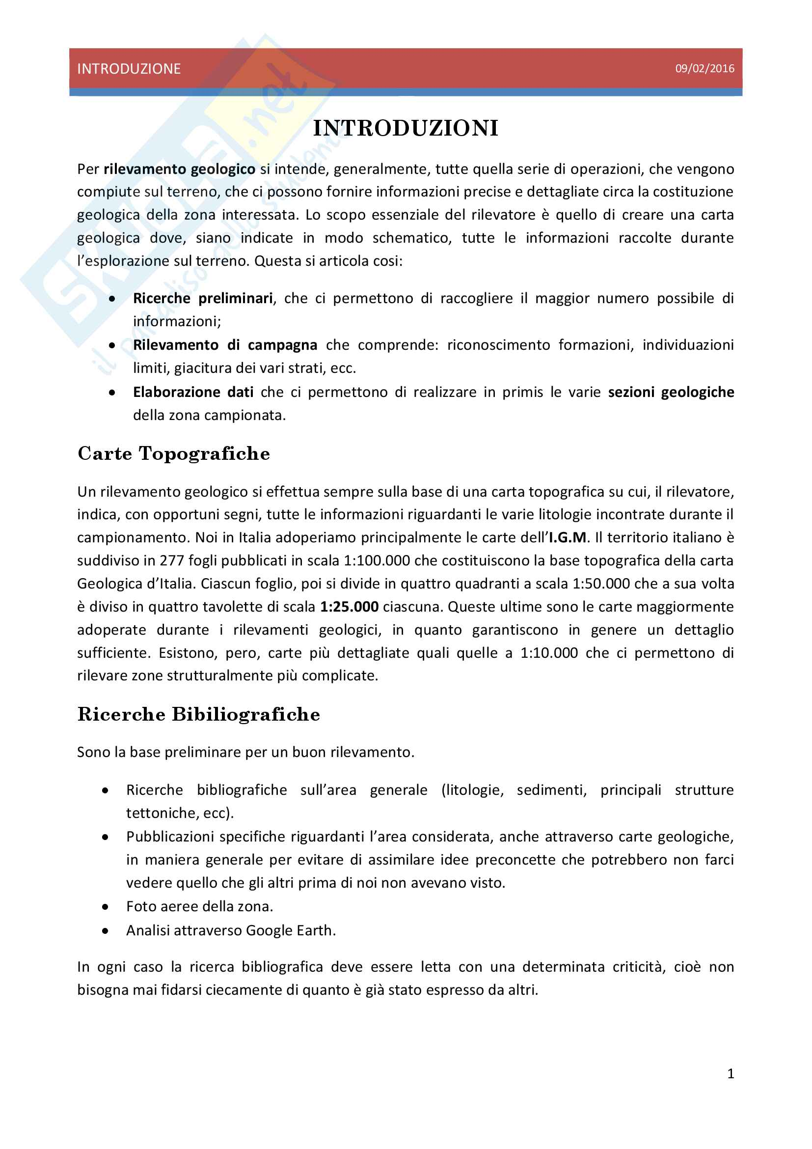 Rilevamento Geologico Pag. 2