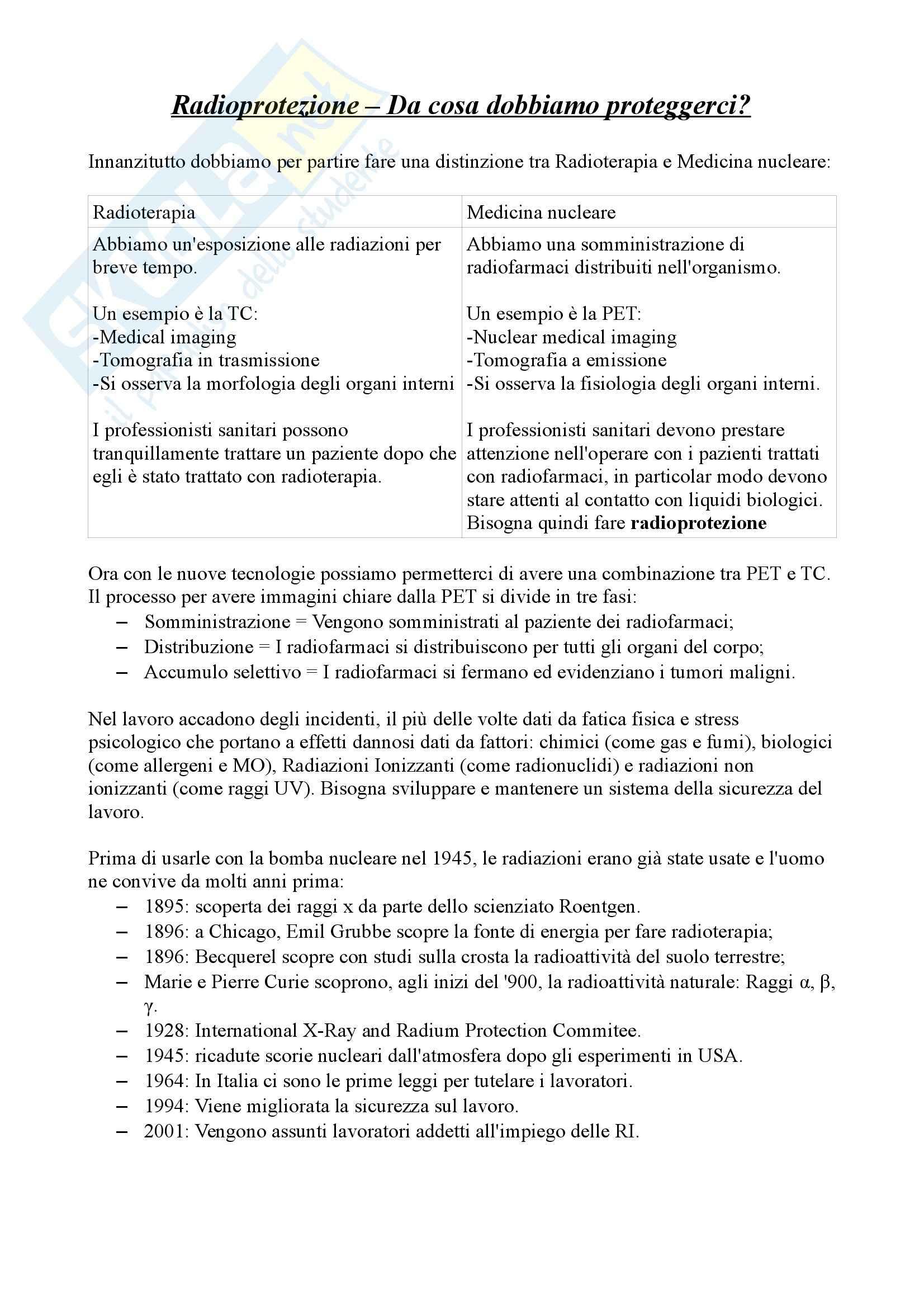 Radioprotezione - Appunti