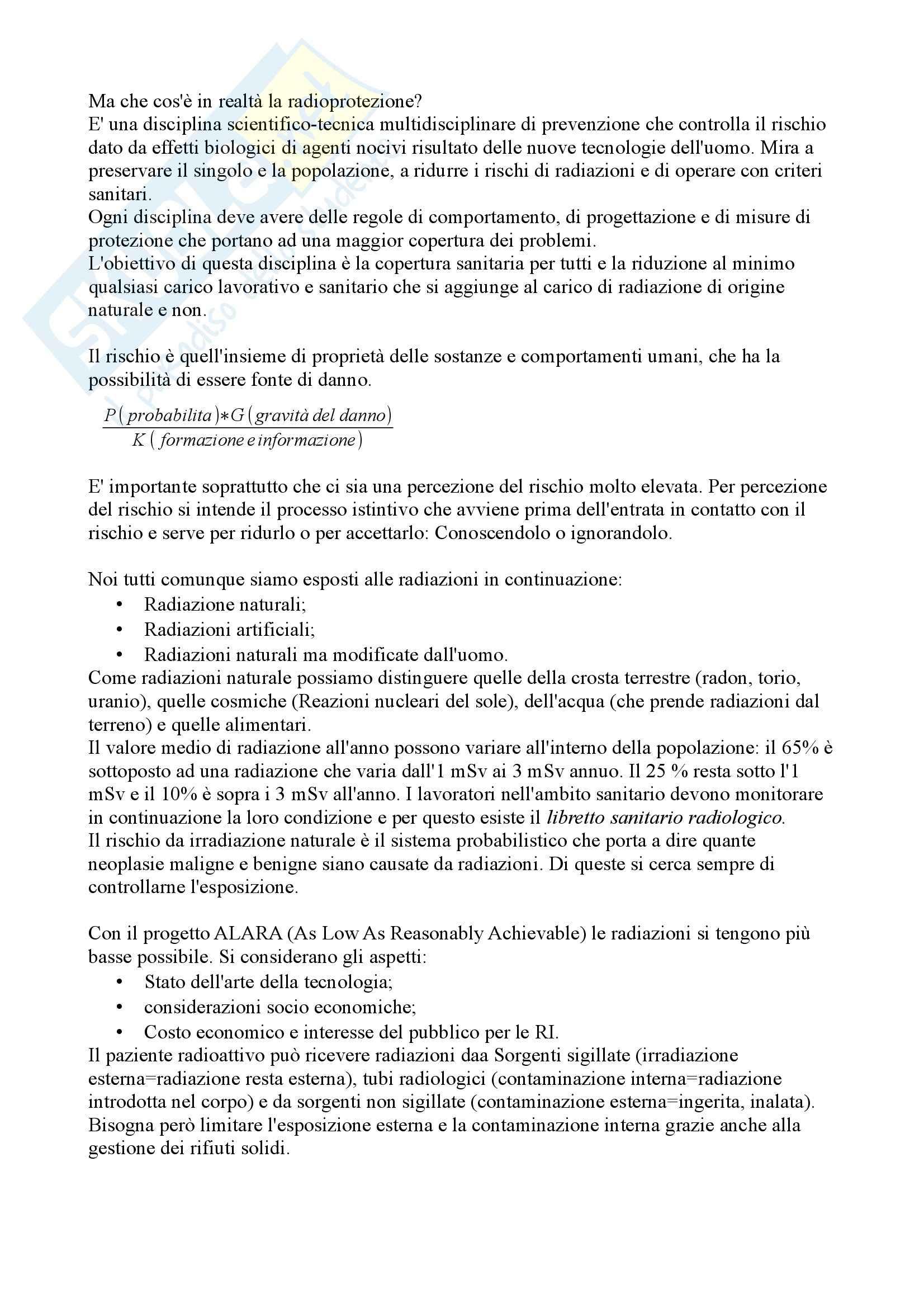 Radioprotezione - Appunti Pag. 2