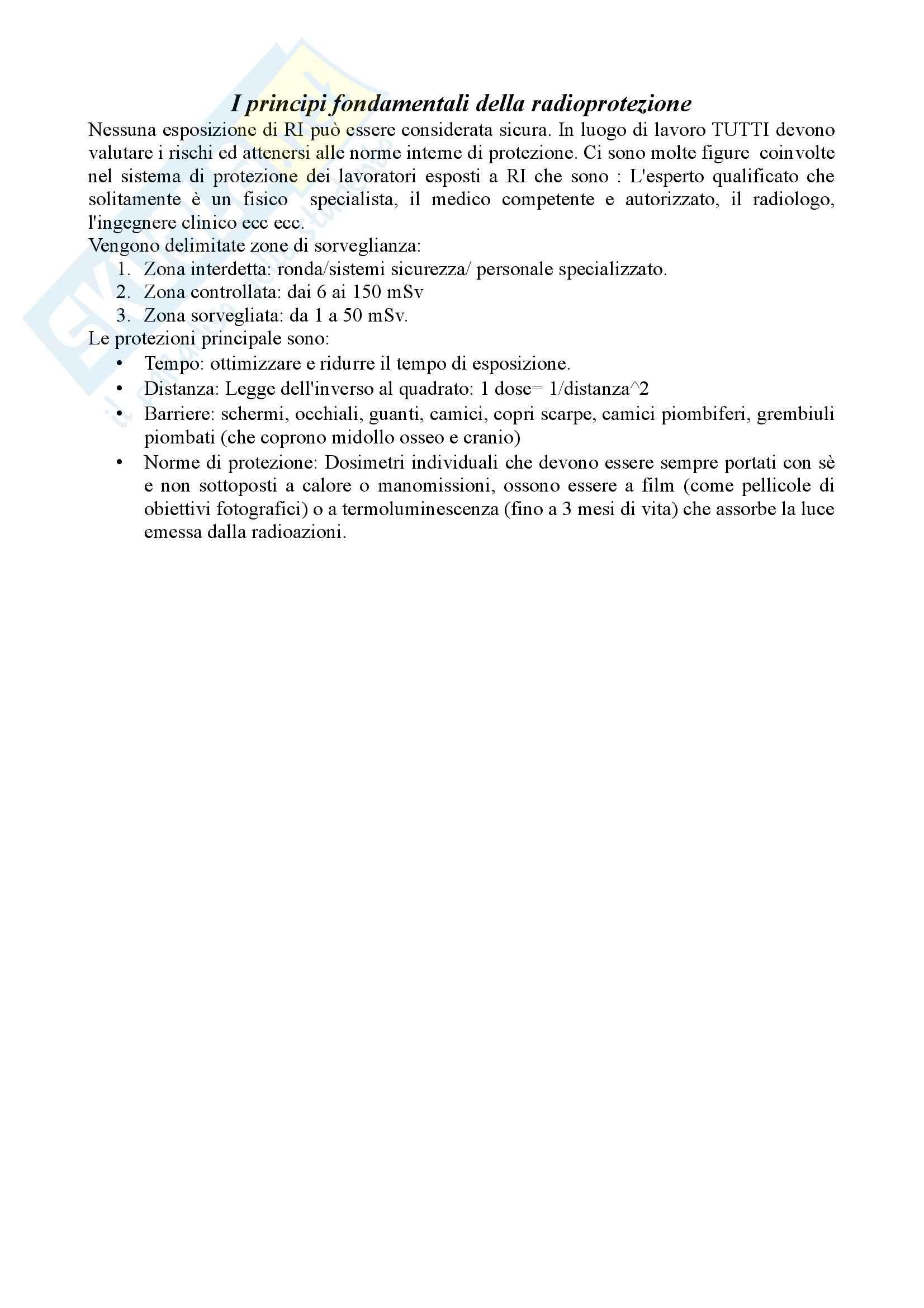 Radioprotezione - Appunti Pag. 6
