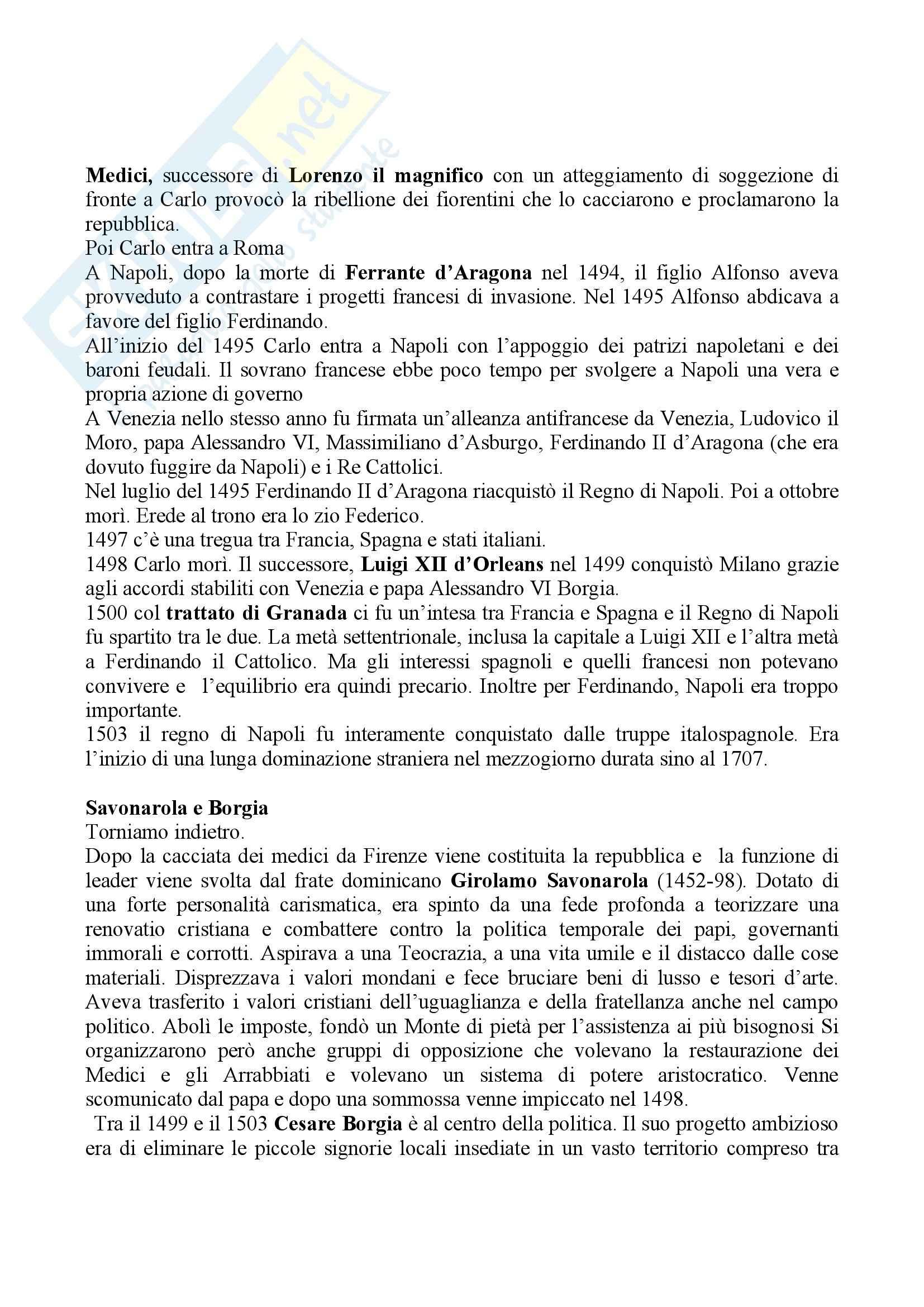 Riassunto esame Storia moderna, prof. Di Rienzo, libro consigliato Le vie della modernità, Musi Pag. 2