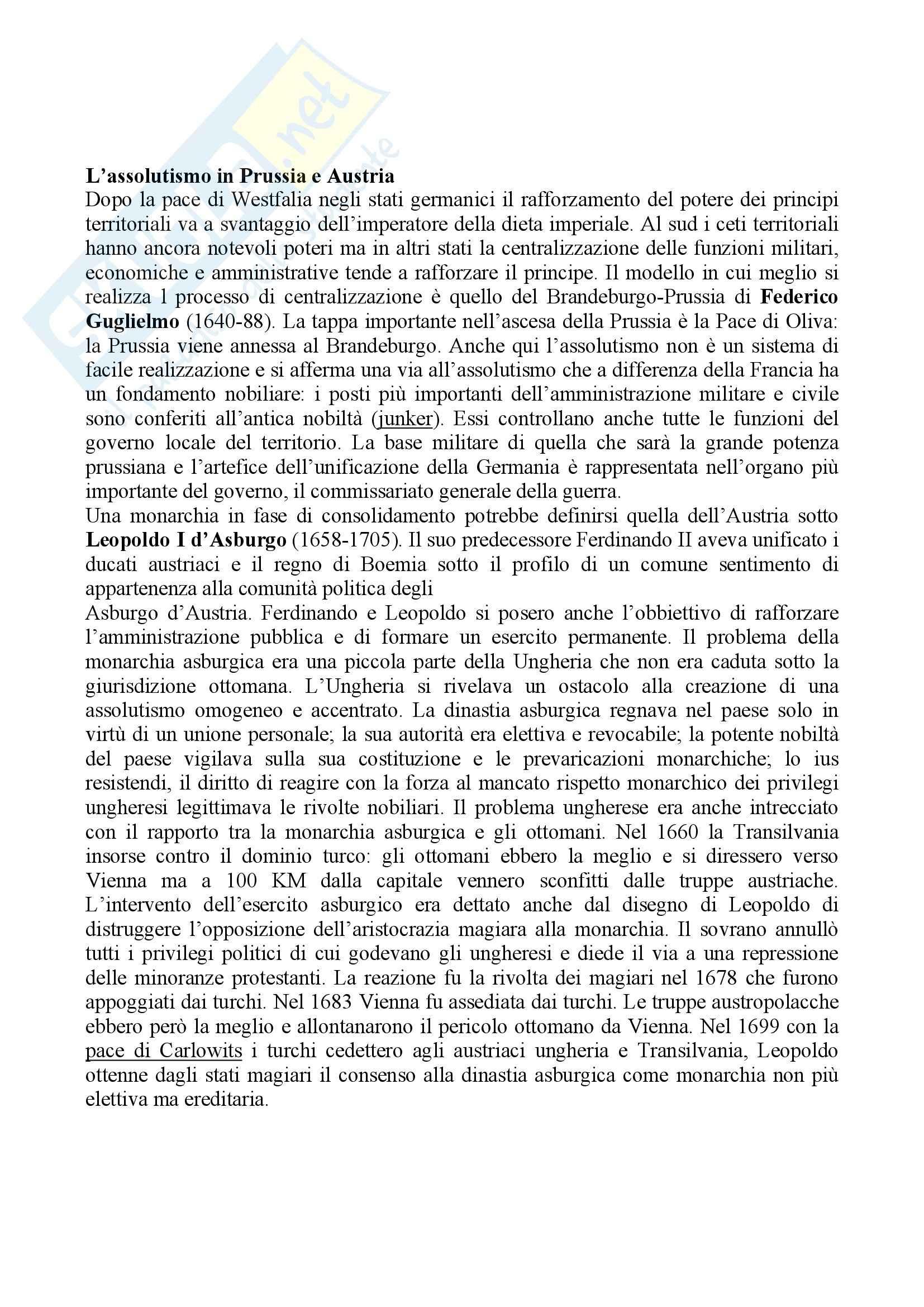 Riassunto esame Storia moderna, prof. Di Rienzo, libro consigliato Le vie della modernità, Musi Pag. 61