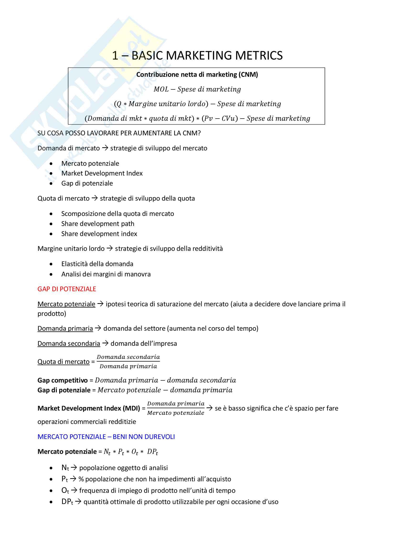 Riassunto di Marketing Management - Advanced