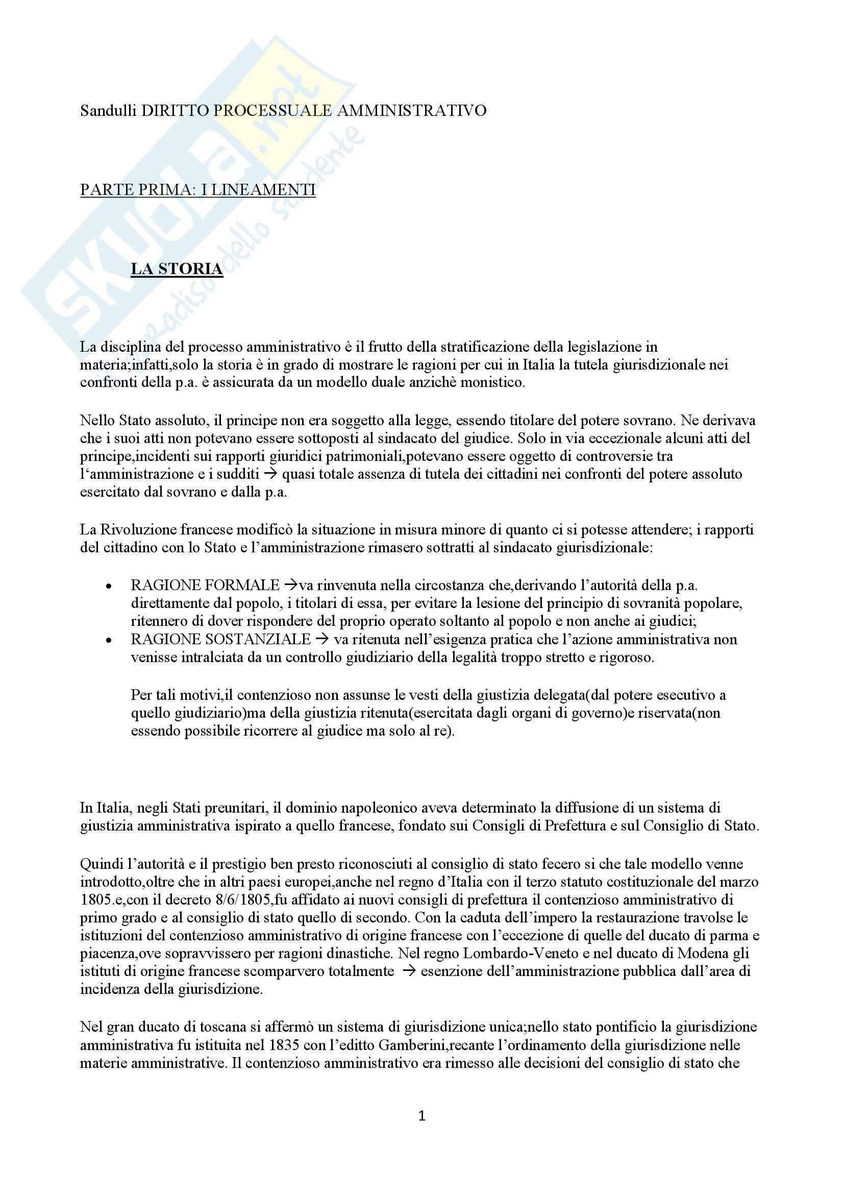 Diritto amministrativo -  Diritto processuale amministrativo, Sandulli A.