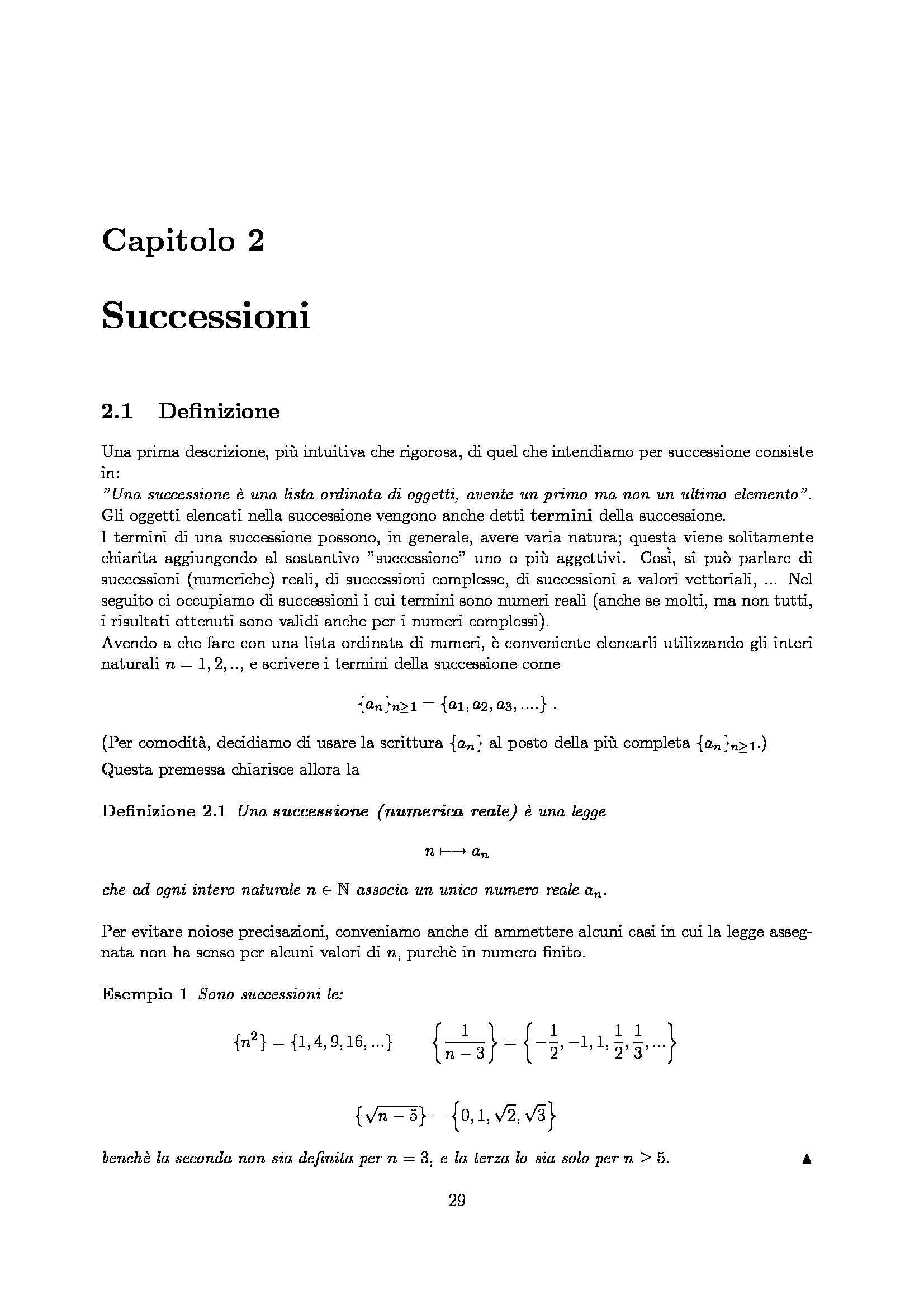 Dispensa di Matematica - Successioni