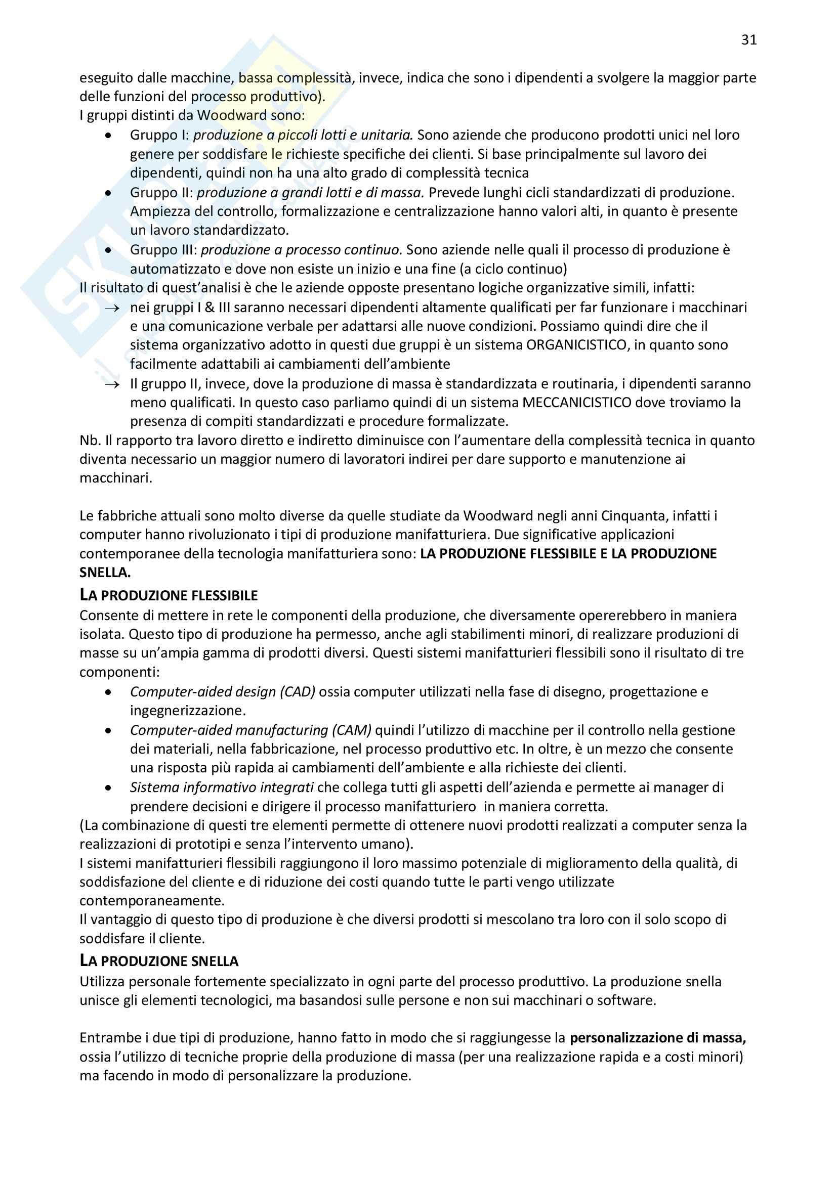 Riassunto esame Organizzazione Aziendale, prof. Bodega, libro consigliato Organizzazione Aziendale, Daft Pag. 31