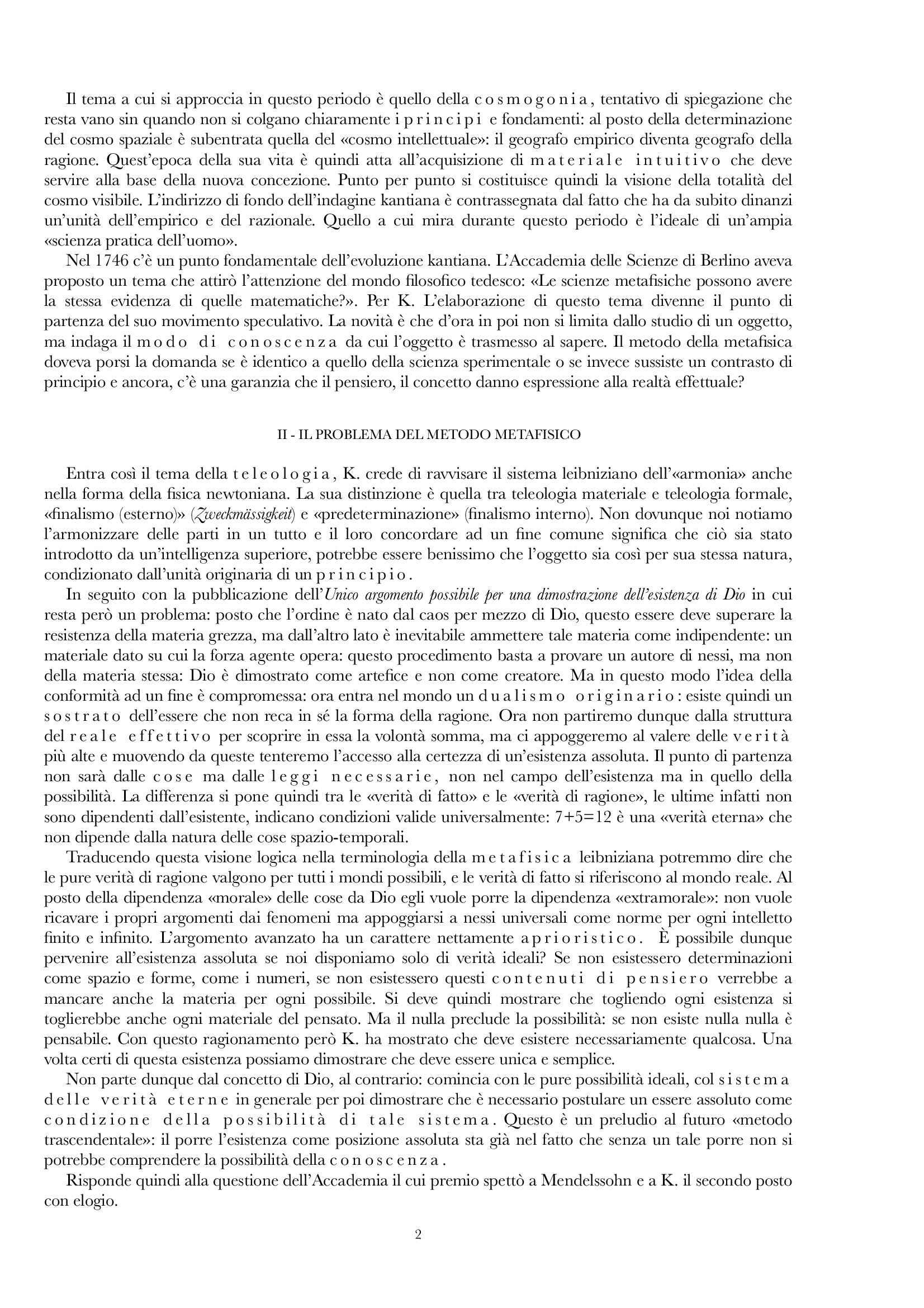 Riassunto esame Estetica, prof. Gentili, libro consigliato Vita e dottrina di Kant, E Cassirer Pag. 2