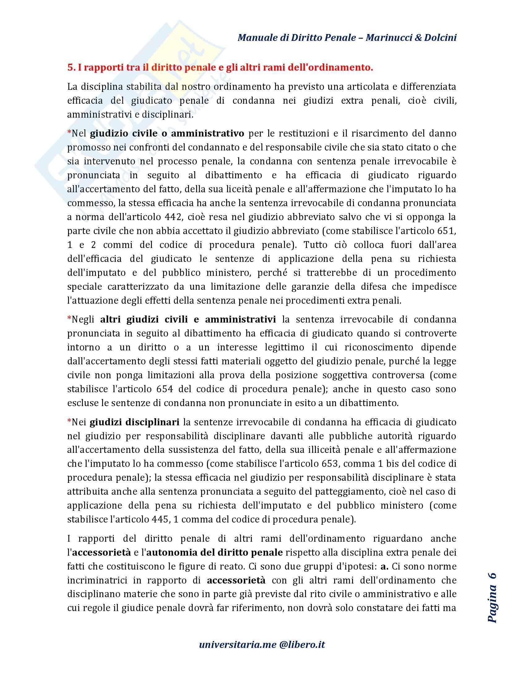 Riassunto esame Diritto Penale, prof. D'Ascola, libro consigliato Manuale di Diritto Penale, Marinucci, Dolcini Pag. 6