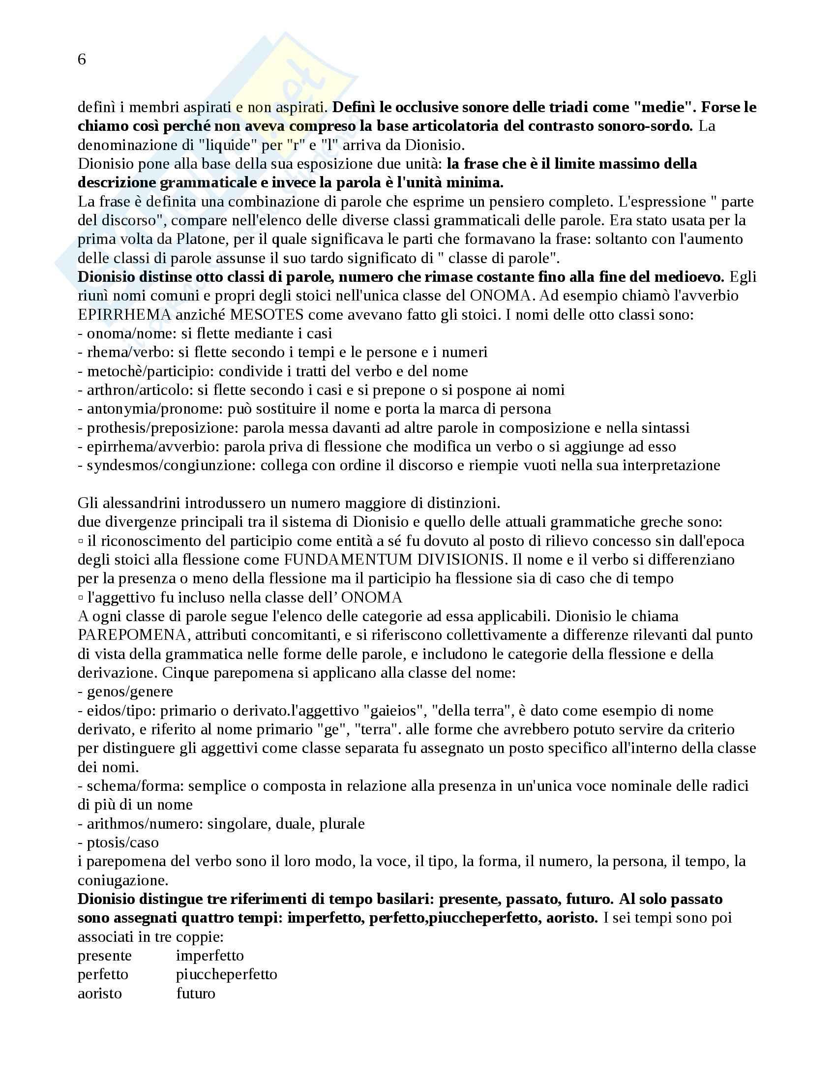 Riassunto esame Glottologia, prof. Poccetti, libro consigliato Storia della Linguistica, R. Robinson Pag. 6