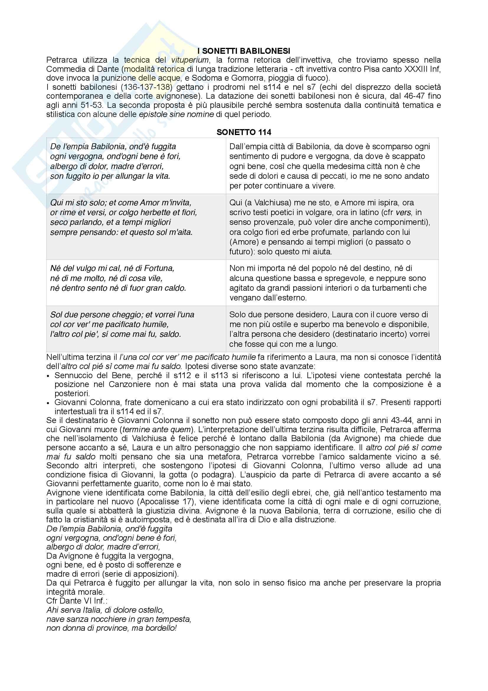 Appunti di letteratura italiana (Petrarca, Il Canzoniere) Pag. 41