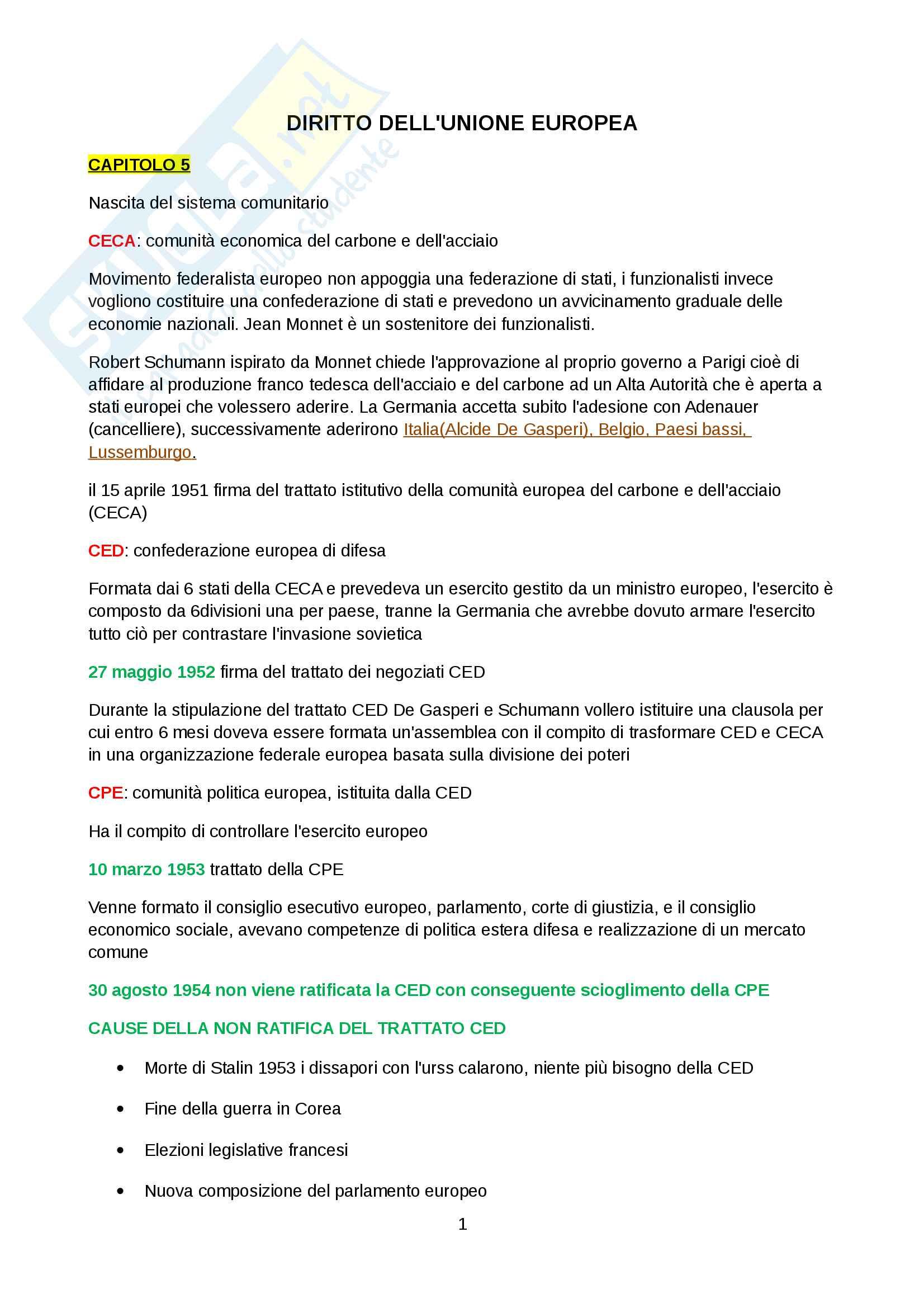 appunto M. Pierini Diritto dell'Unione Europea