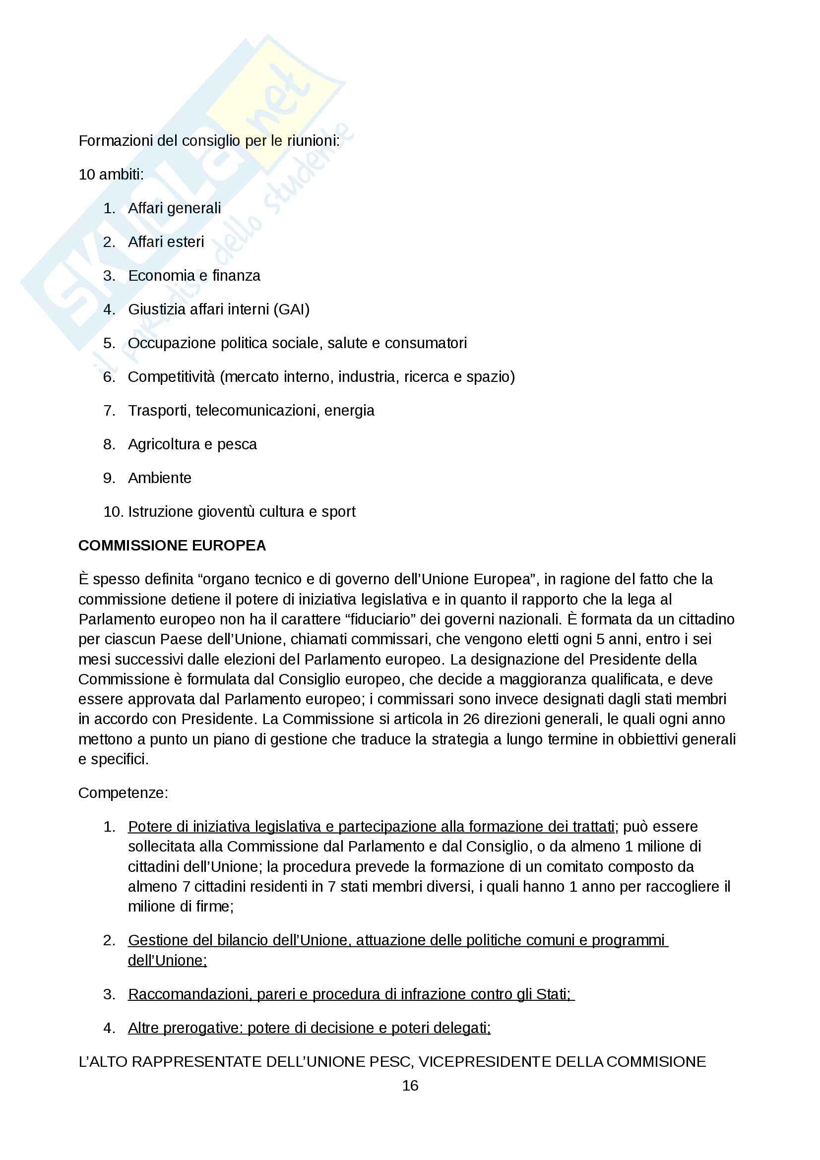 Riassunto esame diritto dell'unione europea Pag. 16