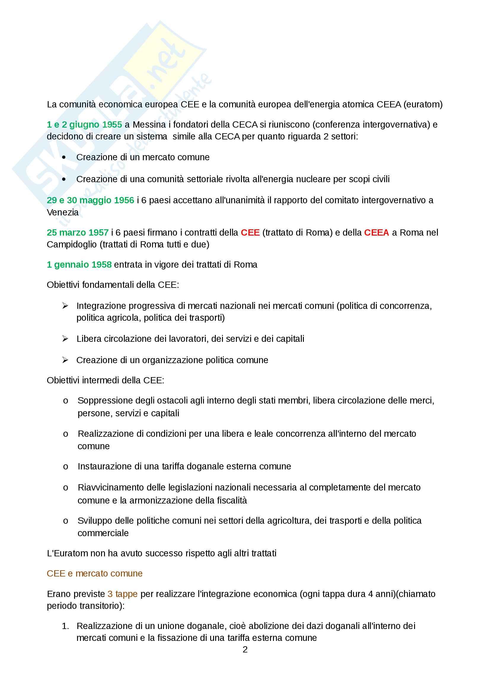 Riassunto esame diritto dell'unione europea Pag. 2
