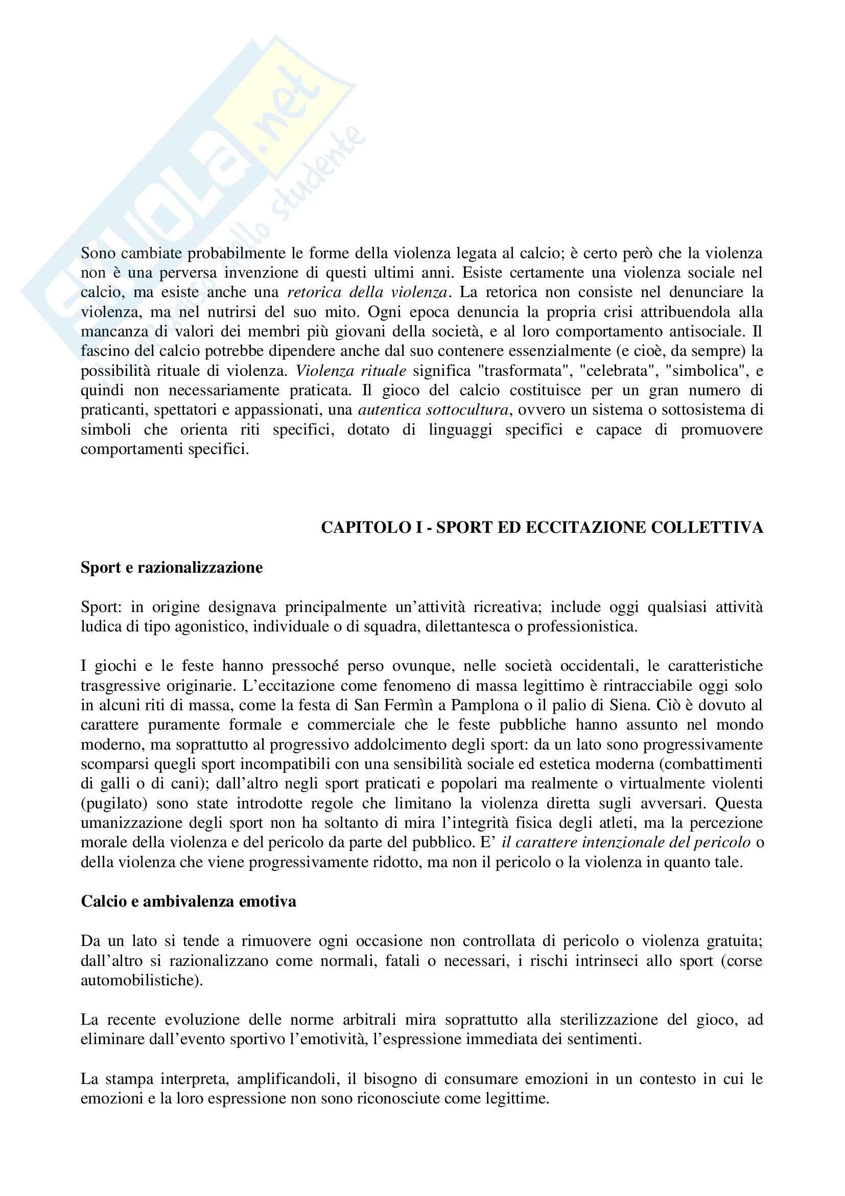 Riassunto esame Sociologia, prof. indefinito, libro consigliato Descrizione di una Battaglia, Dal Lago