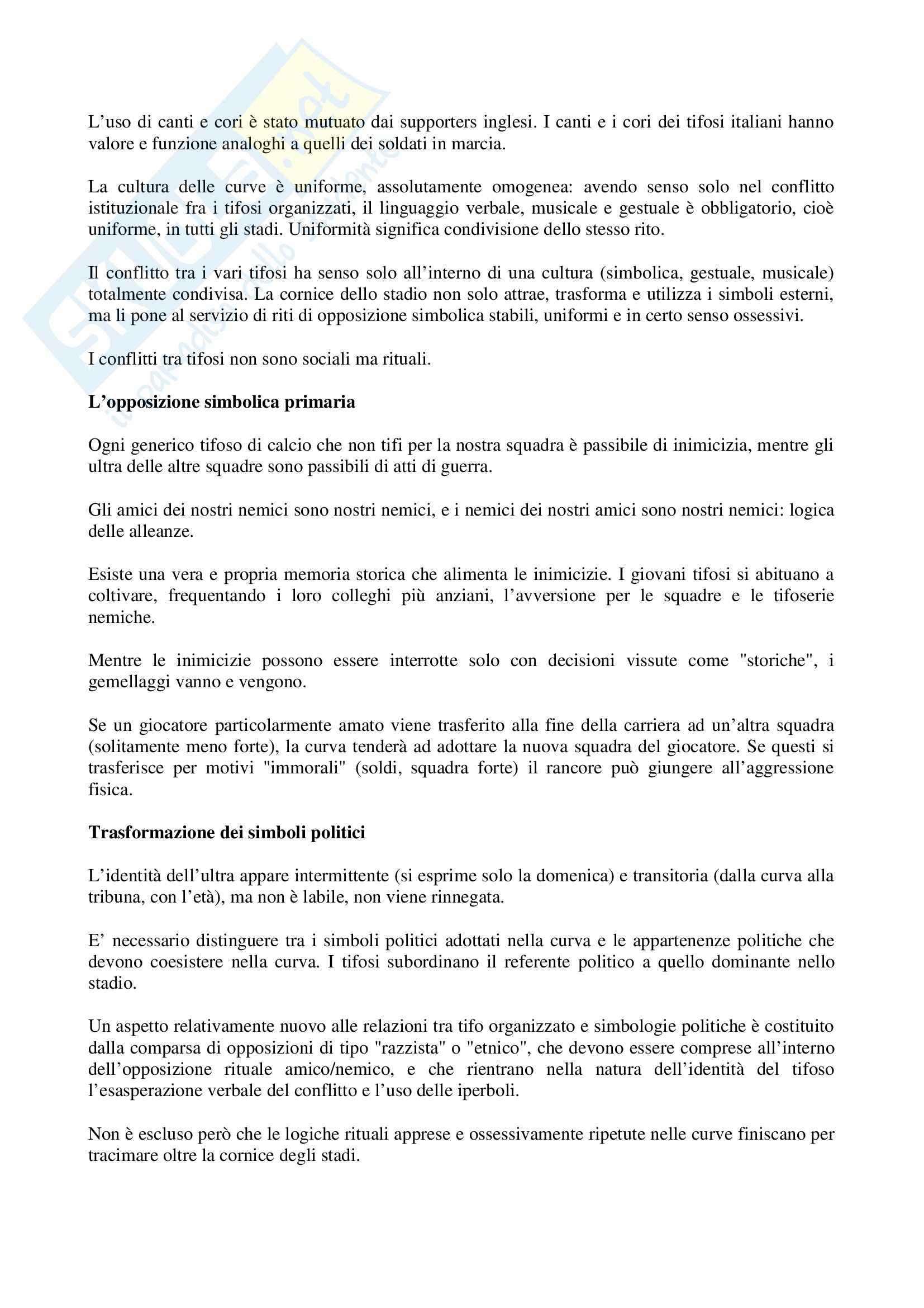 Riassunto esame Sociologia, prof. indefinito, libro consigliato Descrizione di una Battaglia, Dal Lago Pag. 6
