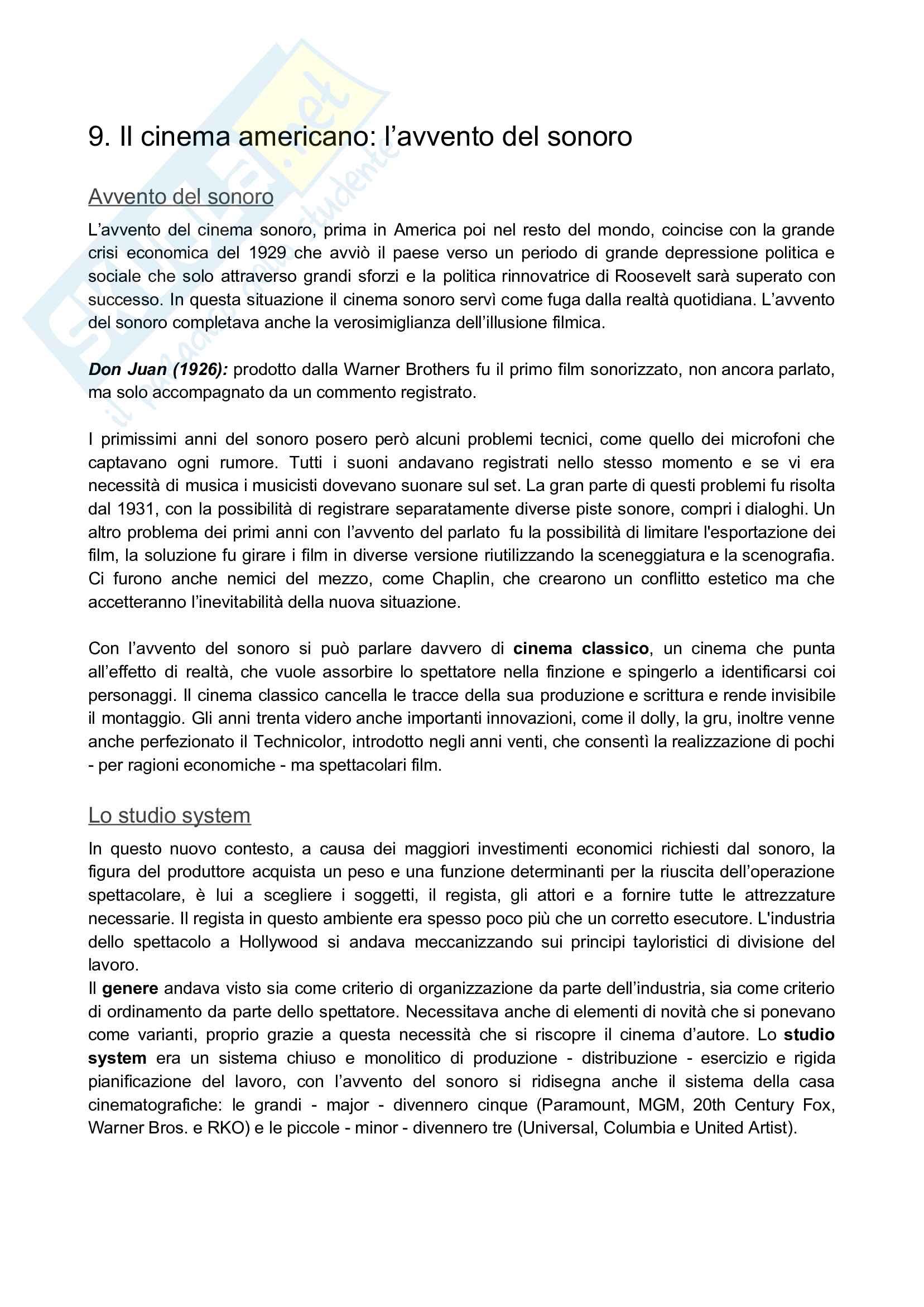 Riassunto esame: Storia del cinema Pag. 26