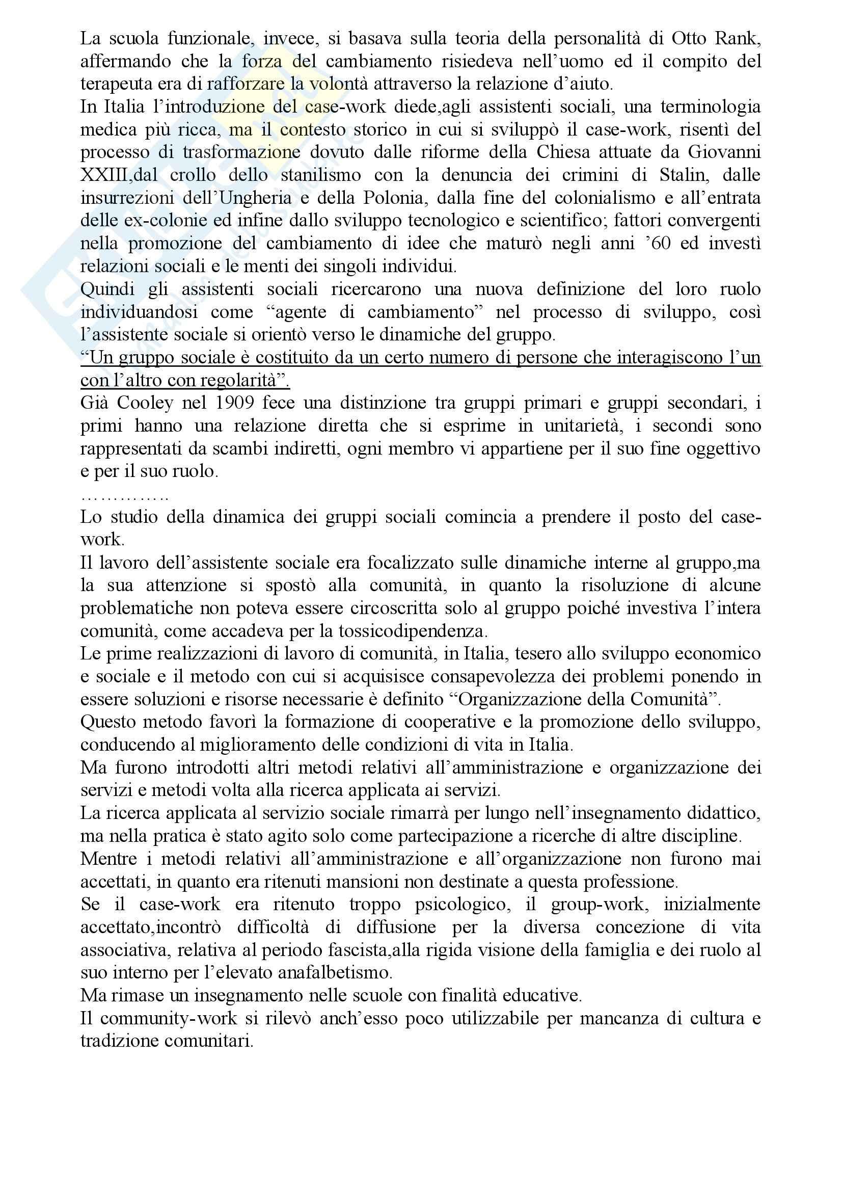 Metodi e tecniche del servizio sociale Pag. 16
